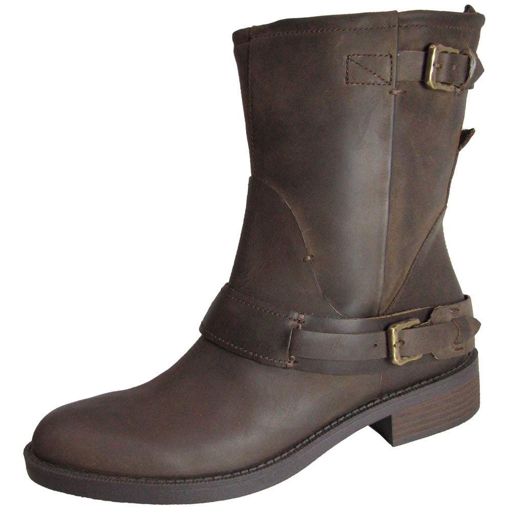 Steve Madden Womens Brewzzer Leather Motorcycle Boot Shoe