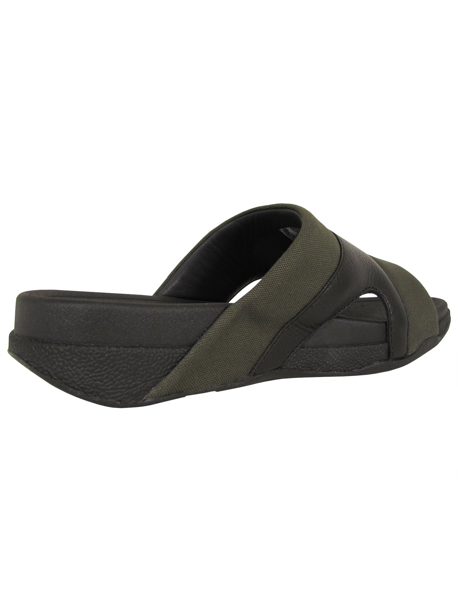 thumbnail 4 - Fitflop-Mens-Freeway-Leather-Canvas-Pool-Slide