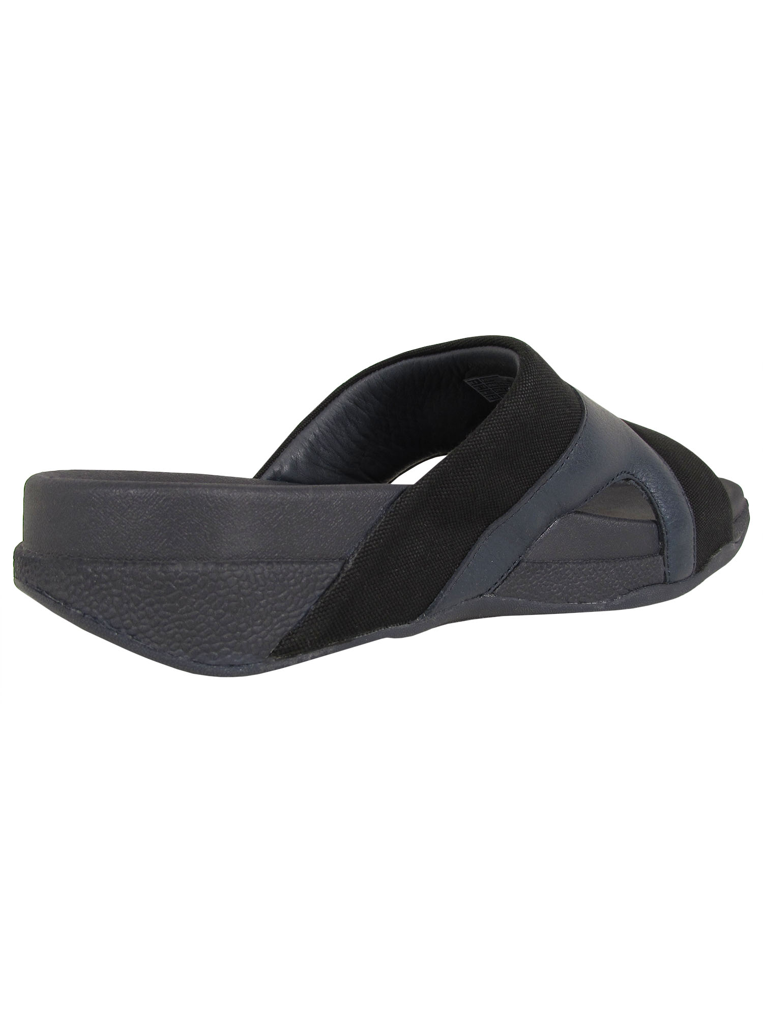 thumbnail 7 - Fitflop-Mens-Freeway-Leather-Canvas-Pool-Slide