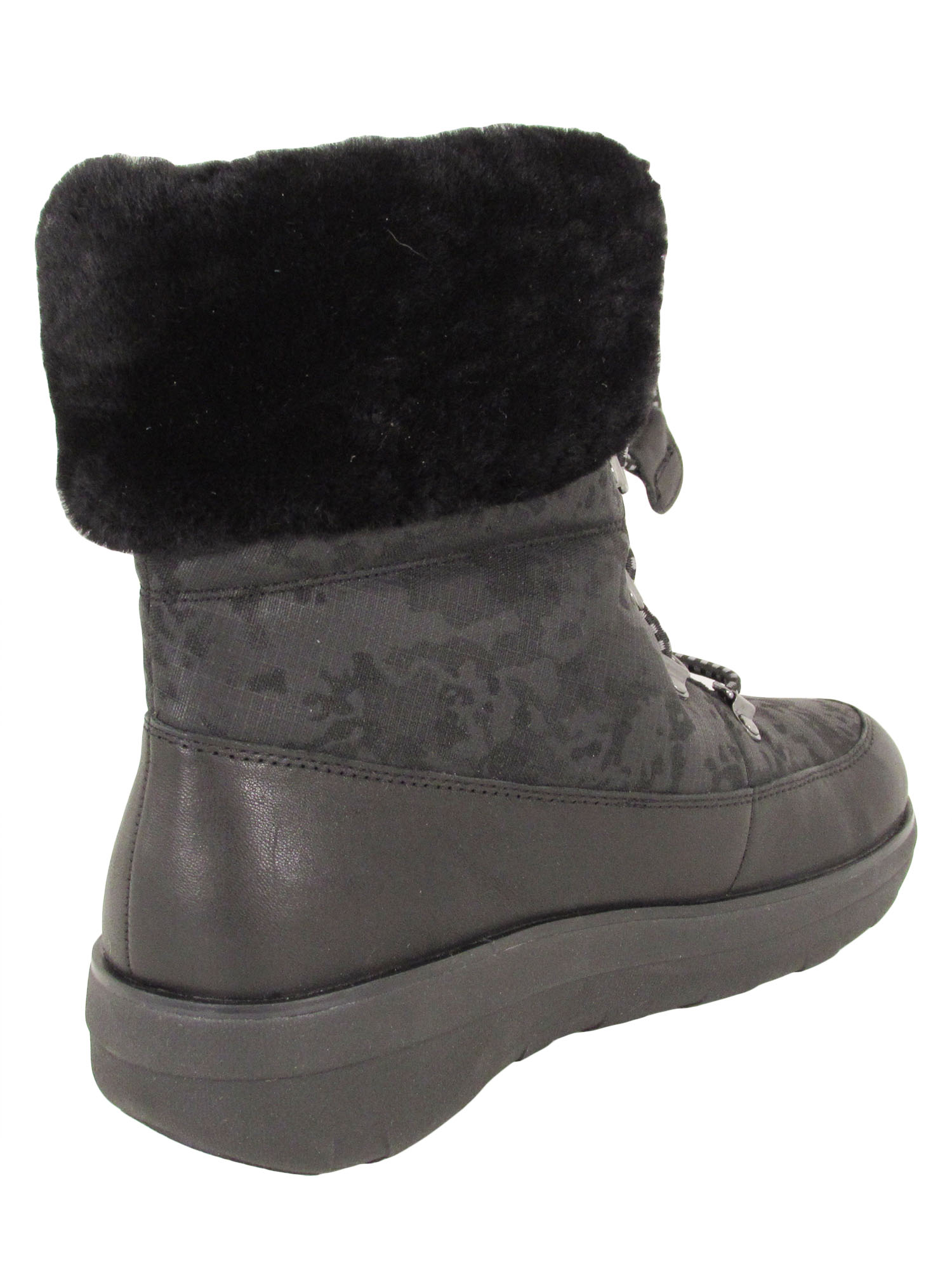 Fitflop-Womens-Holly-Shearling-Lace-Up-Winter-Boot-Shoes thumbnail 4