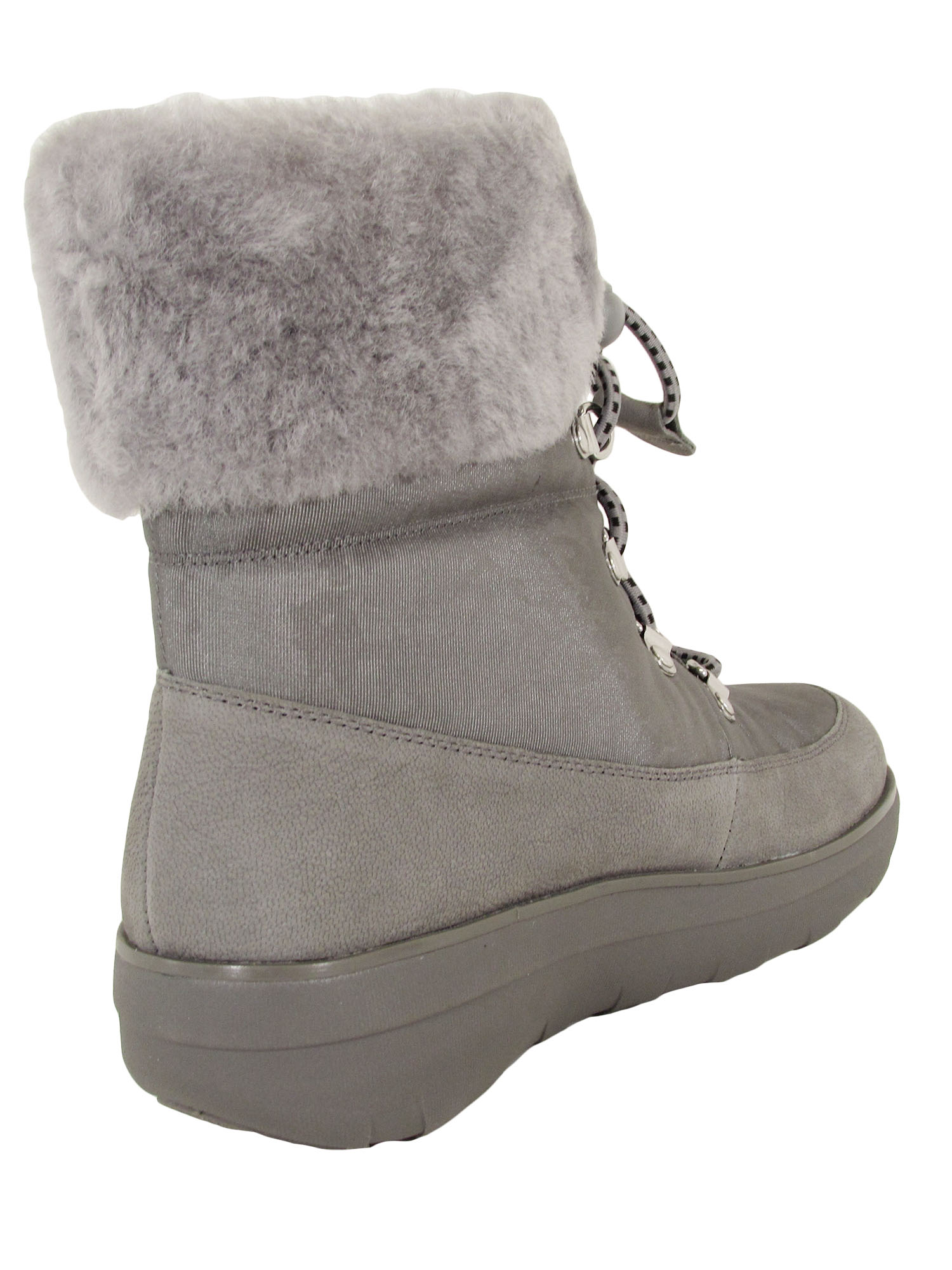Fitflop-Womens-Holly-Shearling-Lace-Up-Winter-Boot-Shoes thumbnail 7