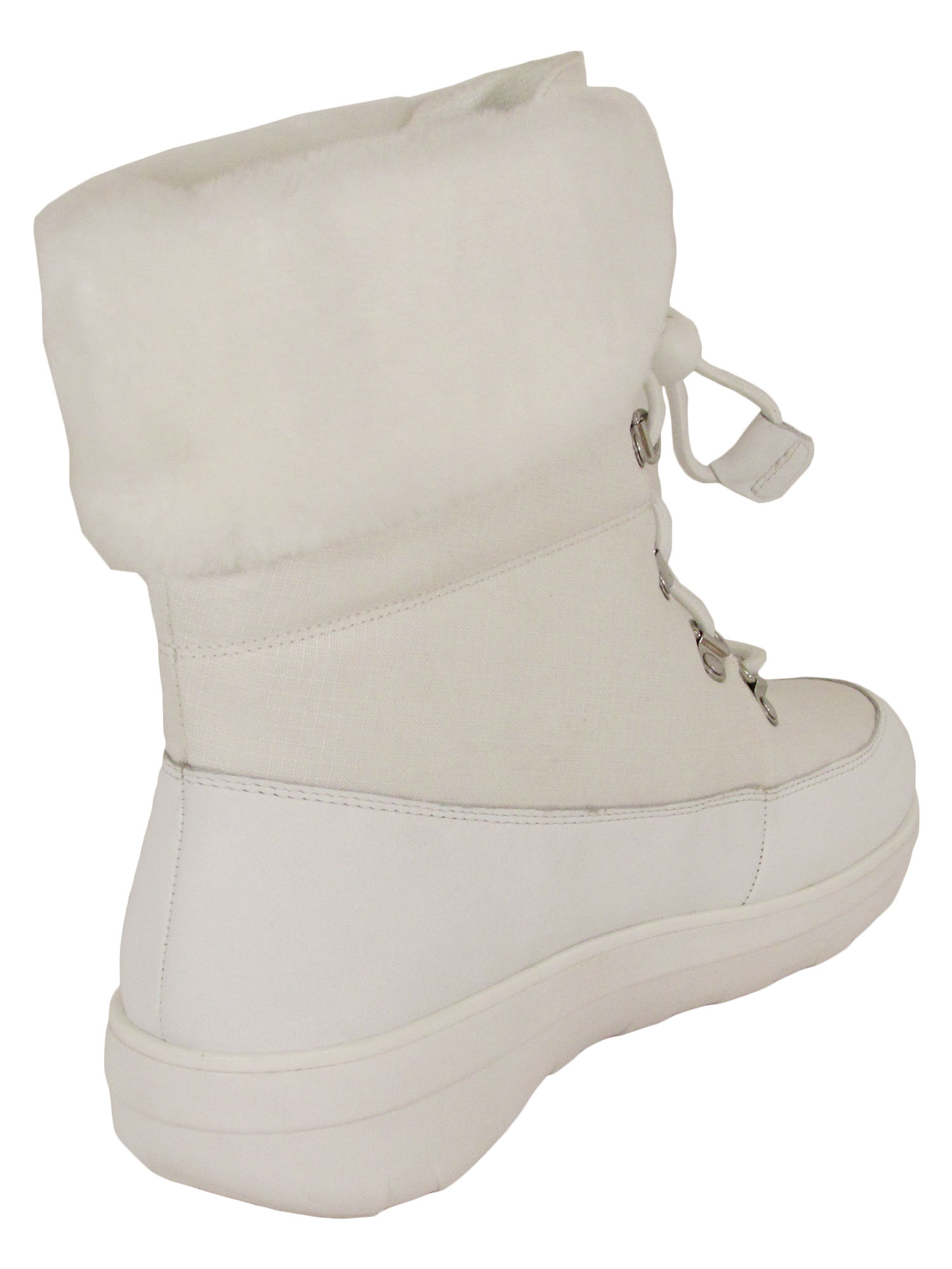 Fitflop-Womens-Holly-Shearling-Lace-Up-Winter-Boot-Shoes thumbnail 10