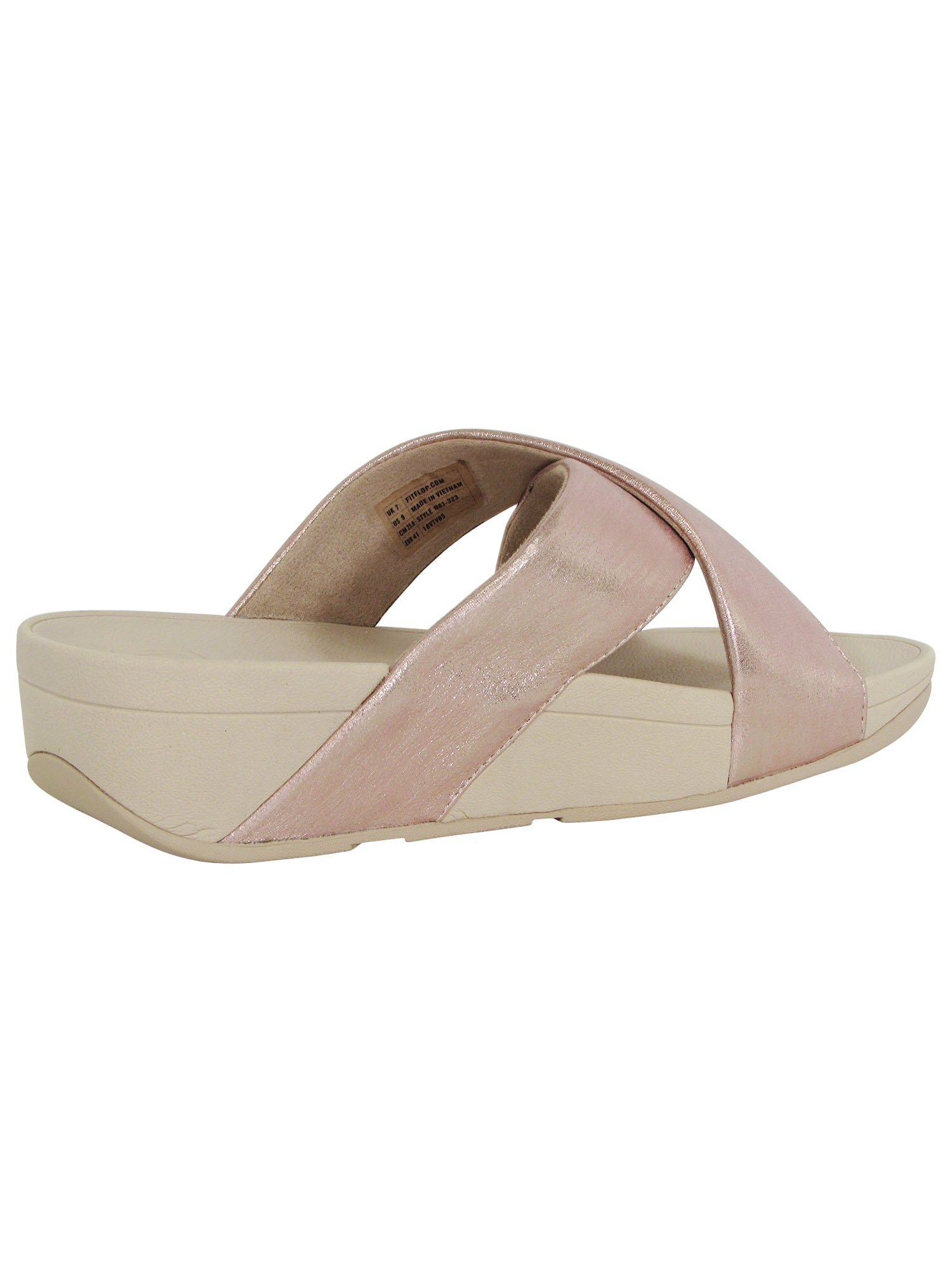Fitflop-Womens-Lulu-Cross-Glitz-Slide-Sandal-Shoes thumbnail 16