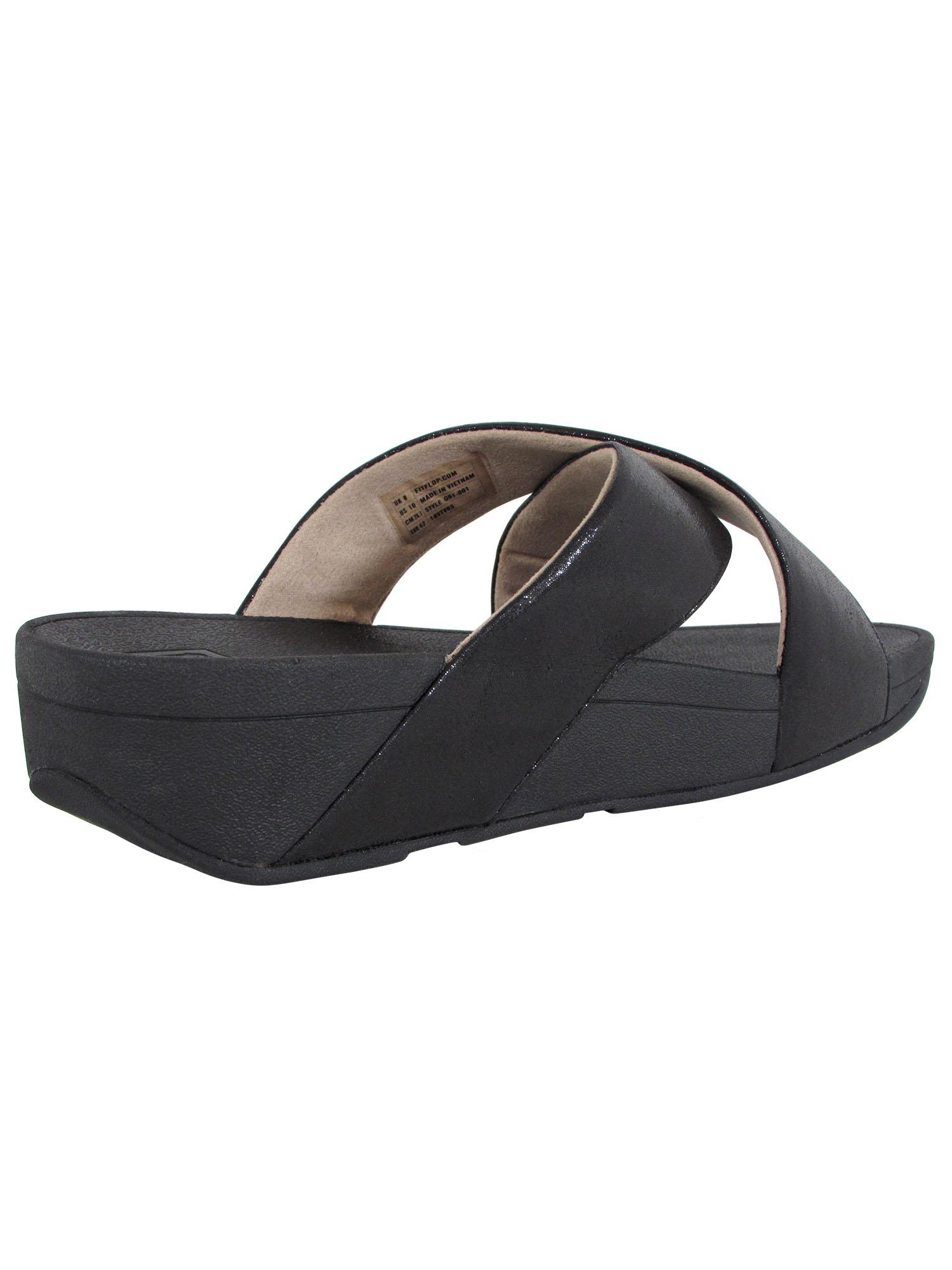 Fitflop-Womens-Lulu-Cross-Glitz-Slide-Sandal-Shoes thumbnail 4