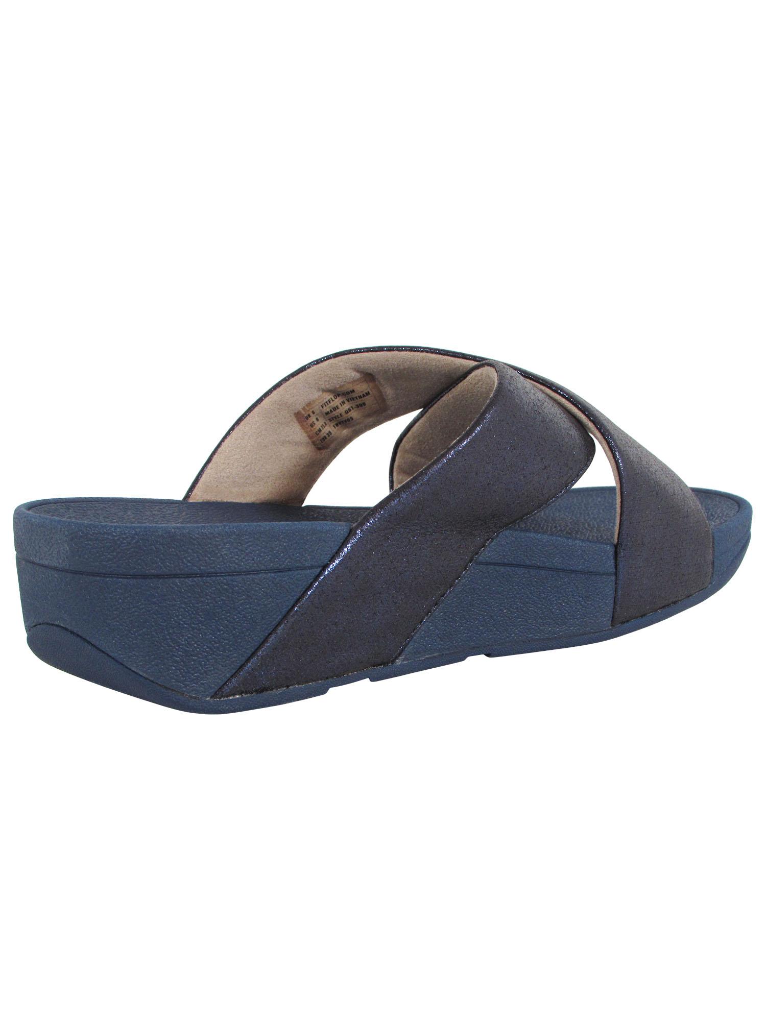Fitflop-Womens-Lulu-Cross-Glitz-Slide-Sandal-Shoes thumbnail 10