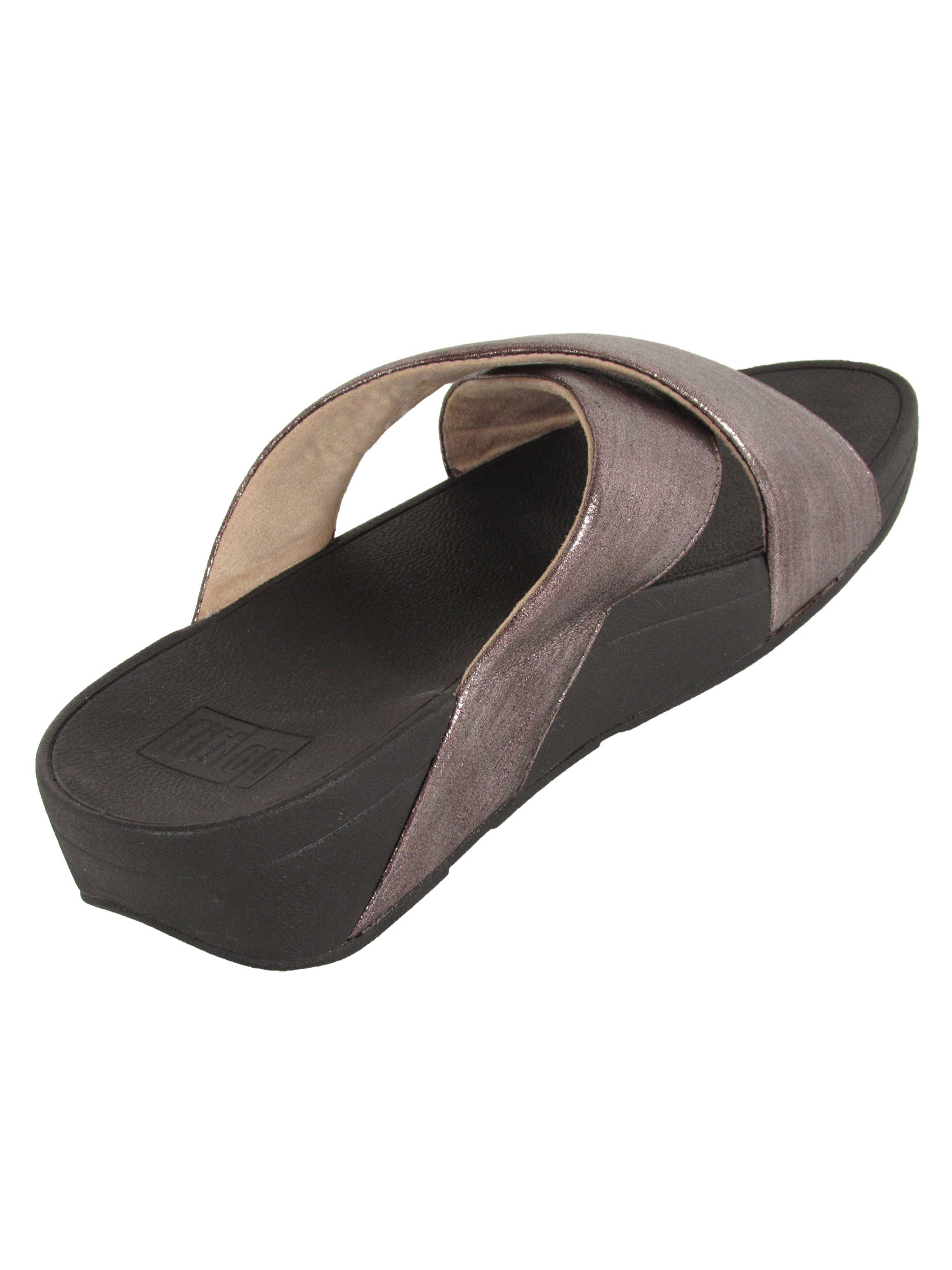 Fitflop-Womens-Lulu-Cross-Glitz-Slide-Sandal-Shoes thumbnail 13