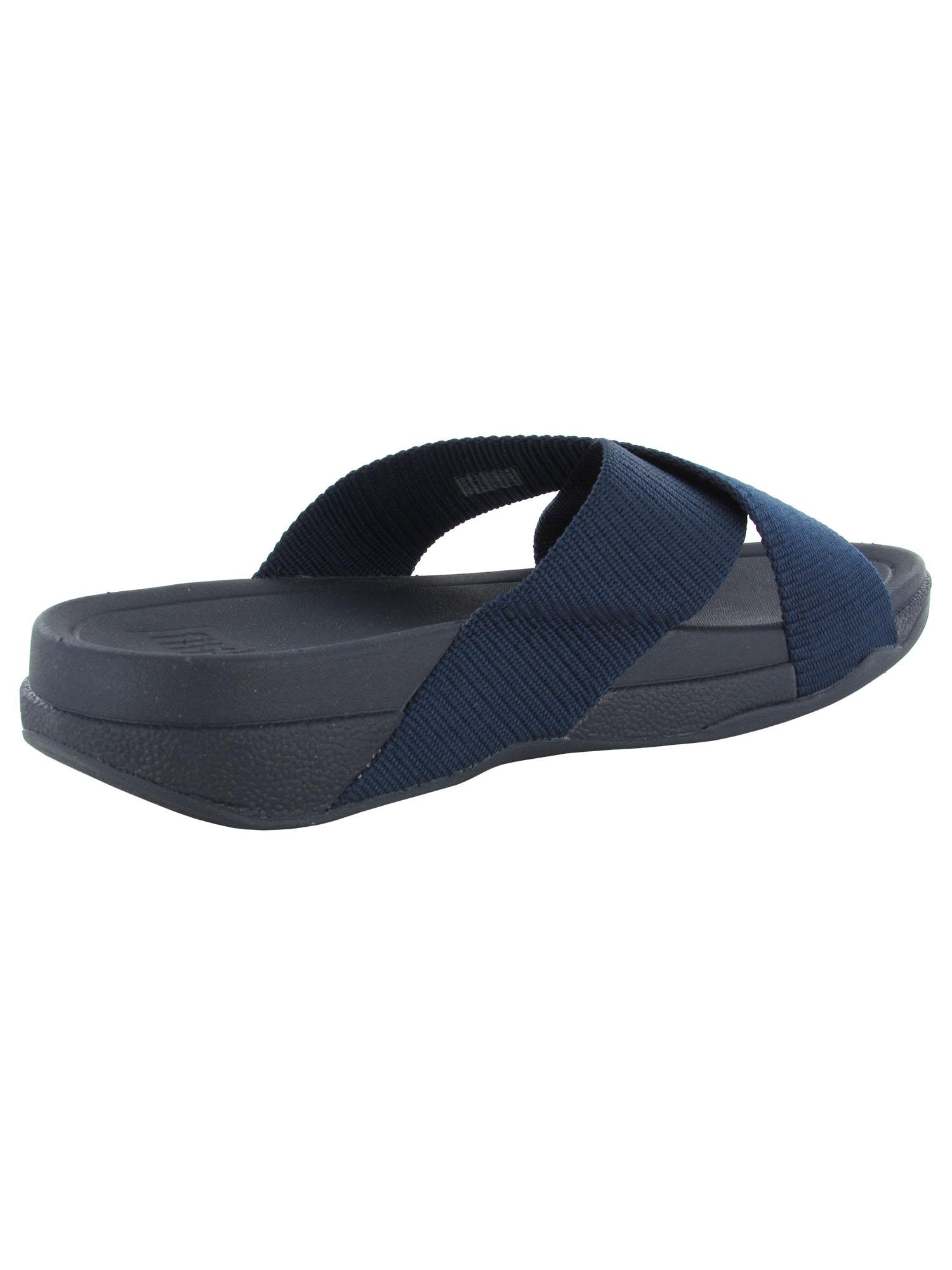thumbnail 4 - Fitflop-Mens-Surfer-Slide-Cross-Strap-Sandal-Shoes