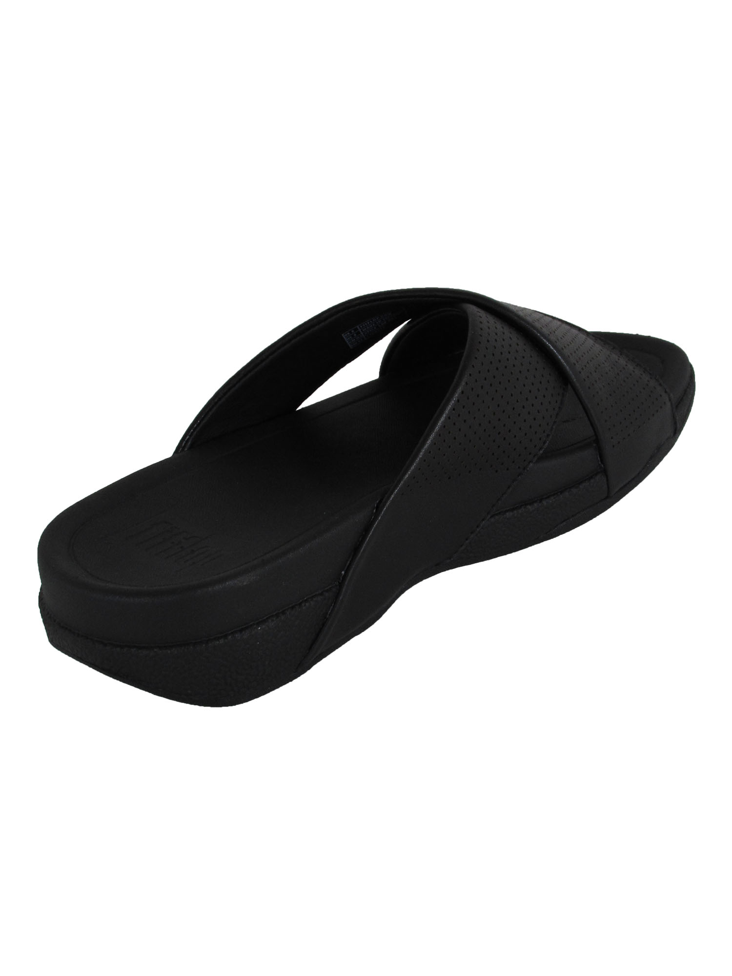 thumbnail 4 - Fitflop-Mens-Surfer-Perforated-Leather-Slide-Shoes