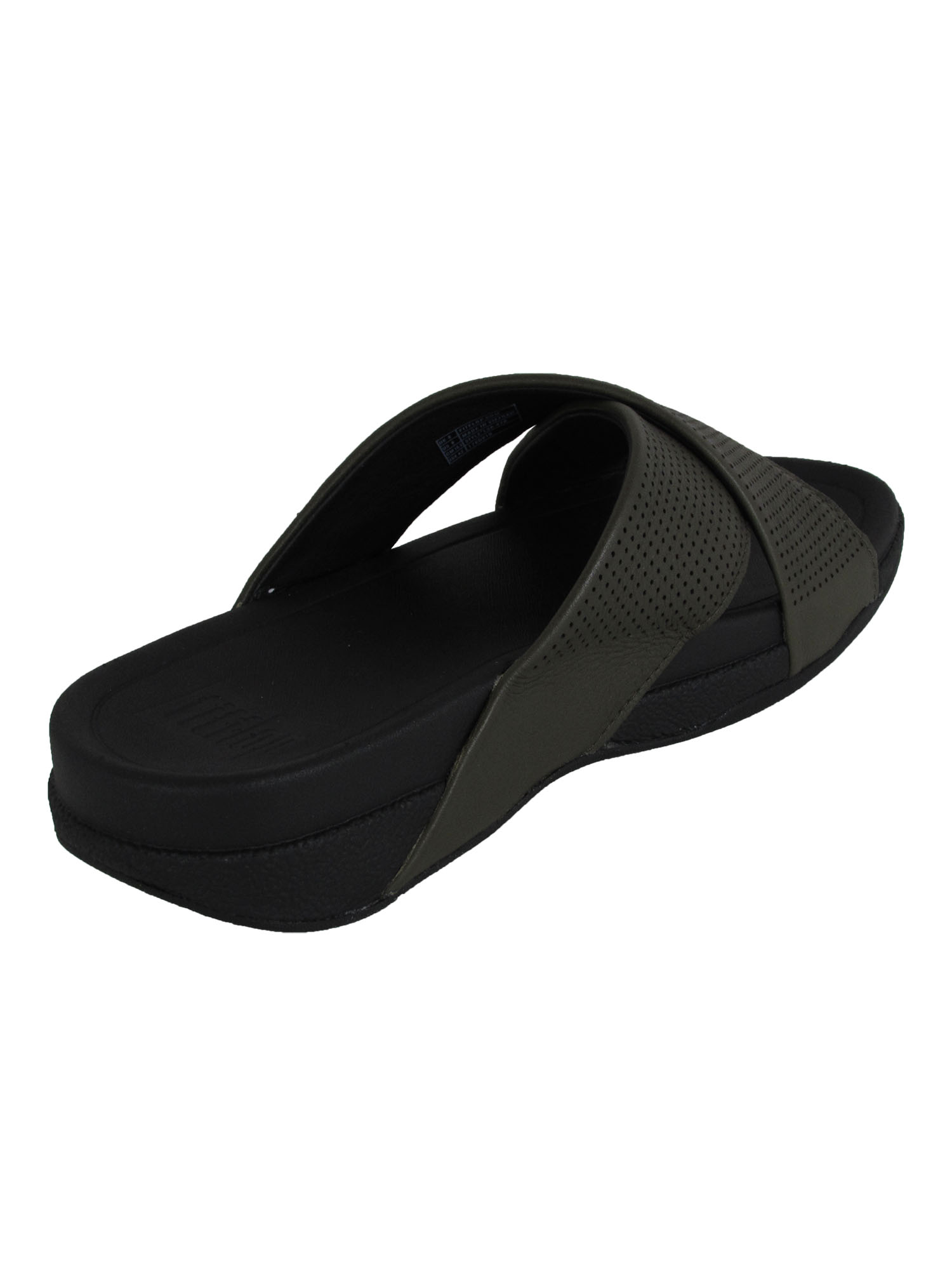 thumbnail 7 - Fitflop-Mens-Surfer-Perforated-Leather-Slide-Shoes