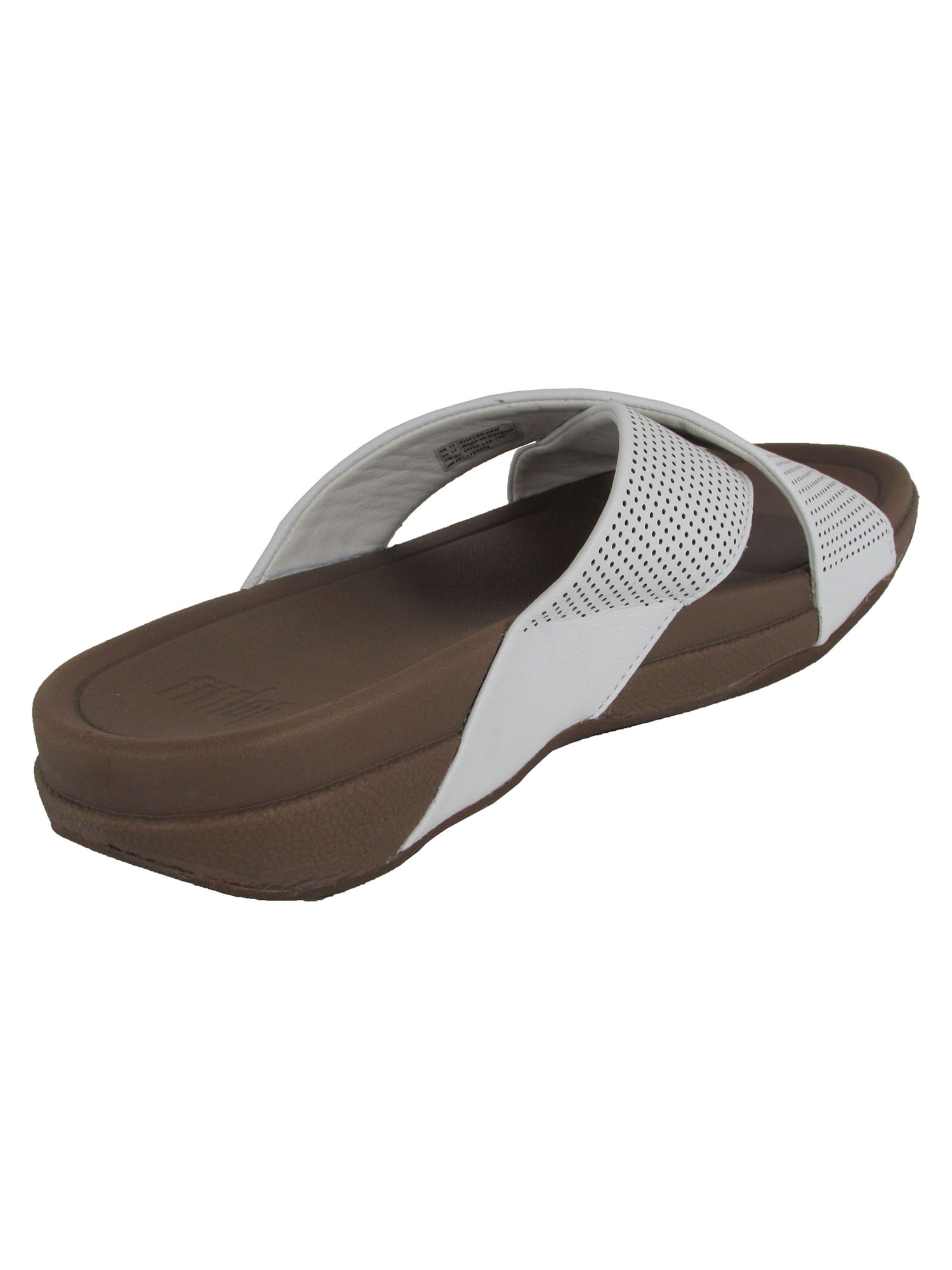 thumbnail 10 - Fitflop-Mens-Surfer-Perforated-Leather-Slide-Shoes