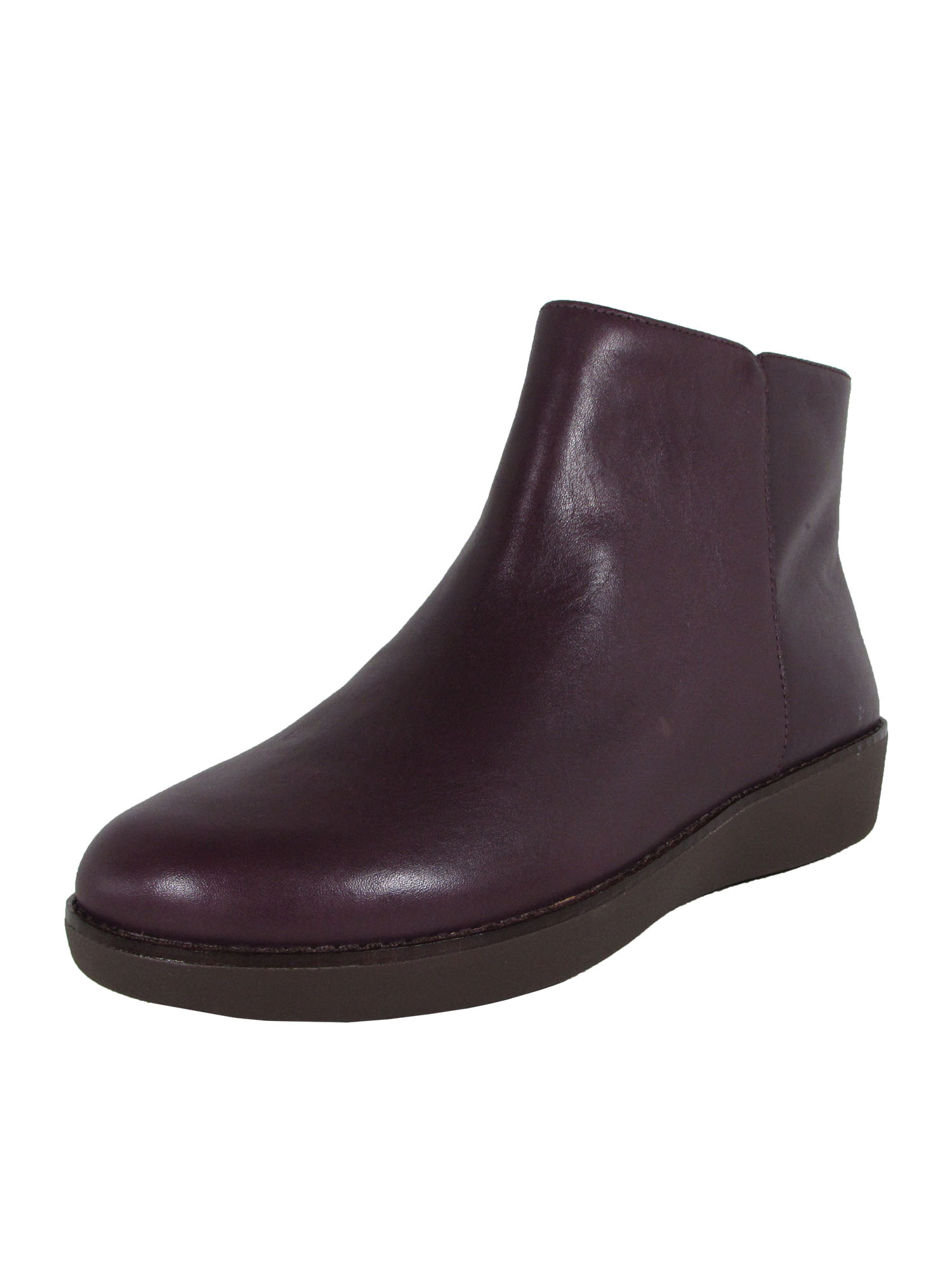 Fitflop-Womens-Ziggy-Zip-Leather-Bootie-Shoes-Deep-Plum-US-6-5