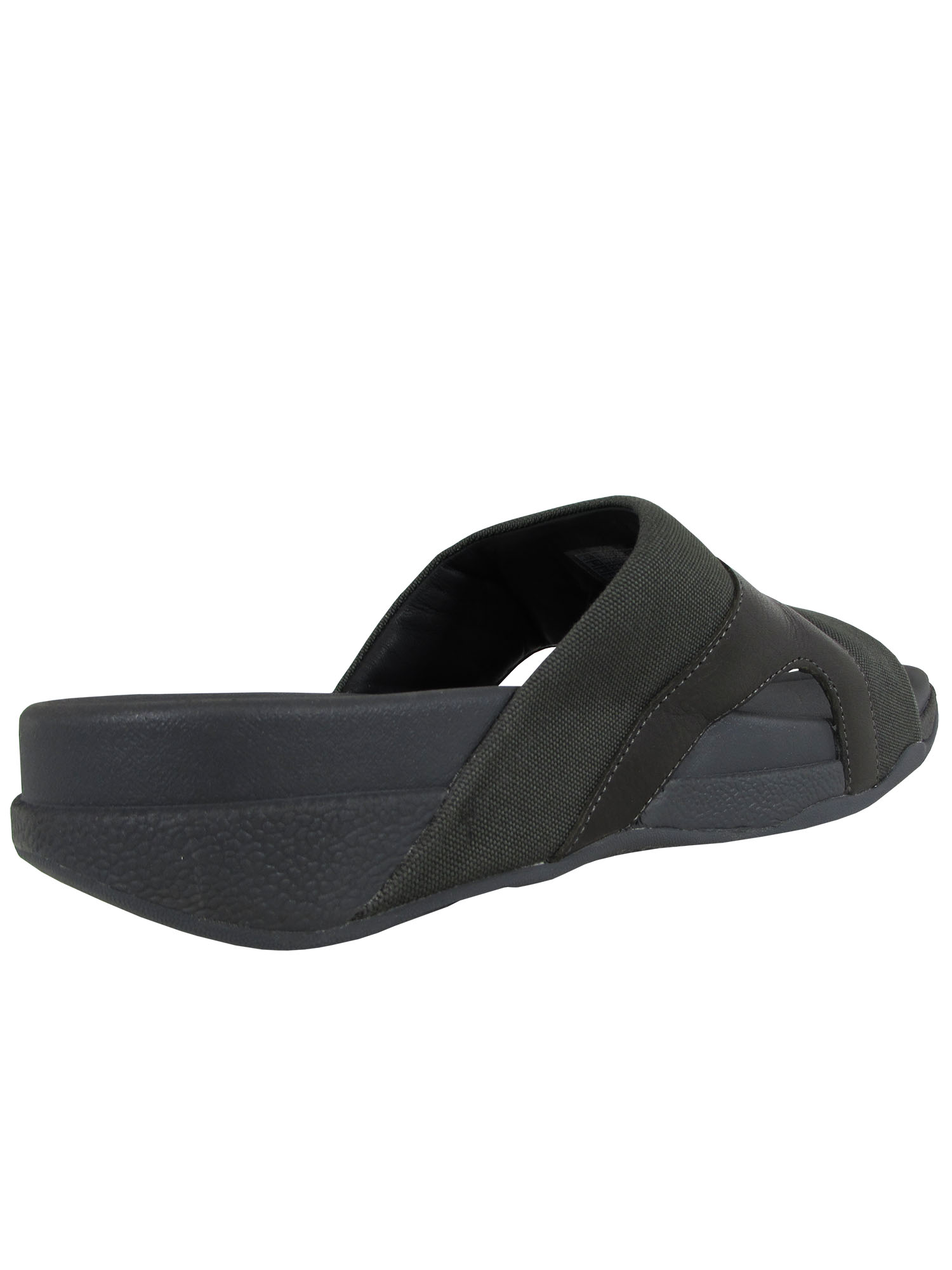 thumbnail 10 - Fitflop-Mens-Freeway-Leather-Canvas-Pool-Slide