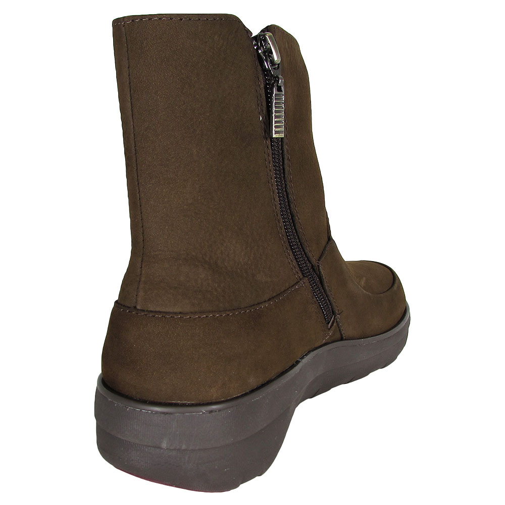 e6dc82e34 FitFlop Womens Loaff Shorty Zip Nubuck Boot Shoes Chocolate Brown 5 ...