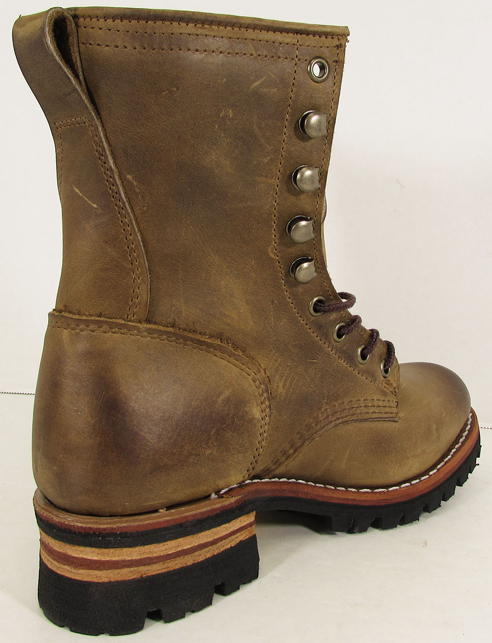 Frye-Womens-Logger-8G-Leather-Work-Boots thumbnail 9