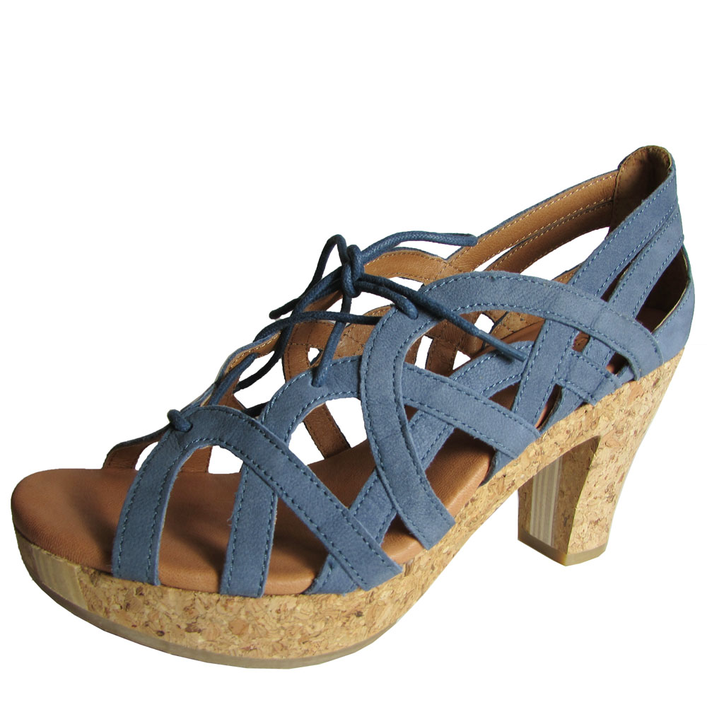 Gentle Souls Womens Shutter Strappy Cork Platform Pump 10 Sapphire. About  this product. Picture 1 of 2; Picture 2 of 2