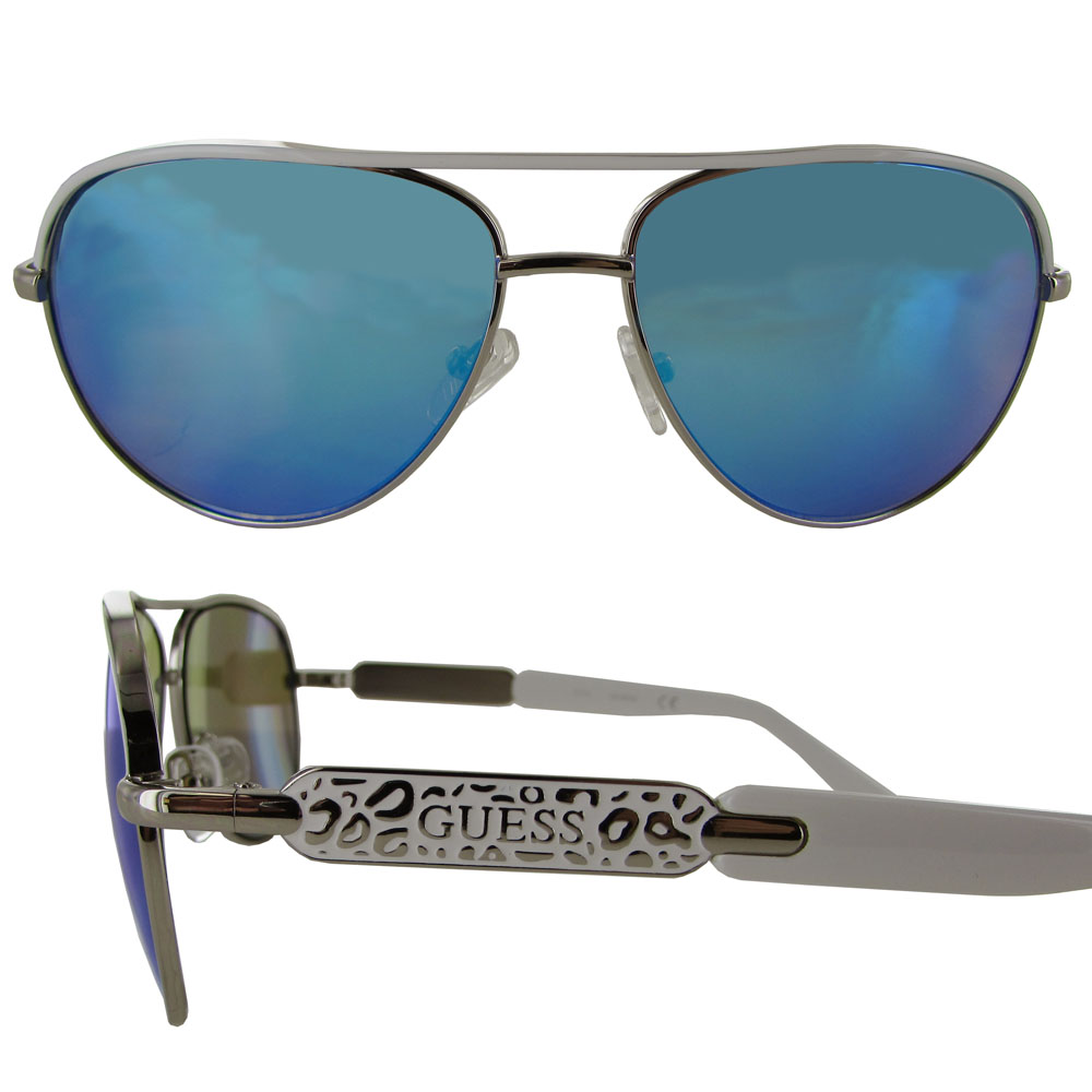 Guess Wire Frame Glasses : Guess Womens GF0287 Wire Frame Aviator Fashion Sunglasses ...