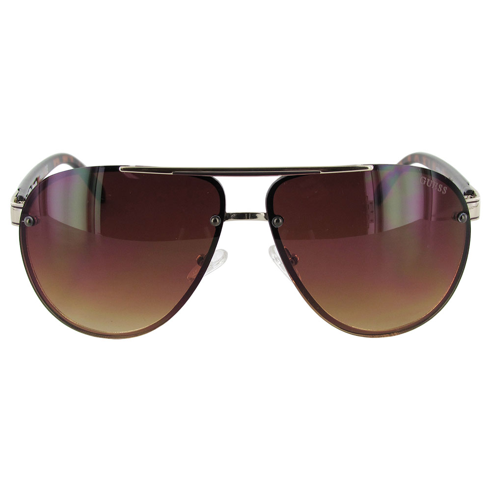 Guess Wire Frame Glasses : Guess Mens GF0165 Aviator Wire Frame Fashion Sunglasses eBay