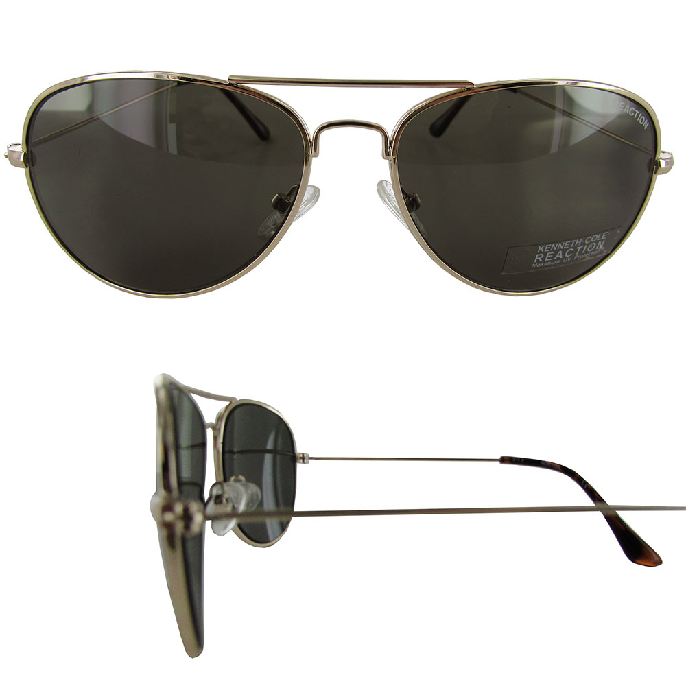 0ceb748aca Buy Kenneth Cole Reaction Sunglass Gold Metal Aviator Smoke Lens ...