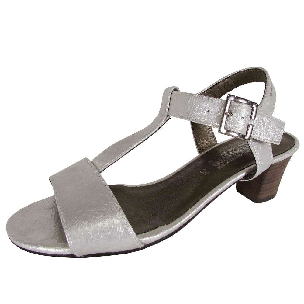 Mephisto para Mujer Vestido Diana T-Strap T-Strap T-Strap Sandalia Zapatos, Plata, EE. UU. 9  salida para la venta