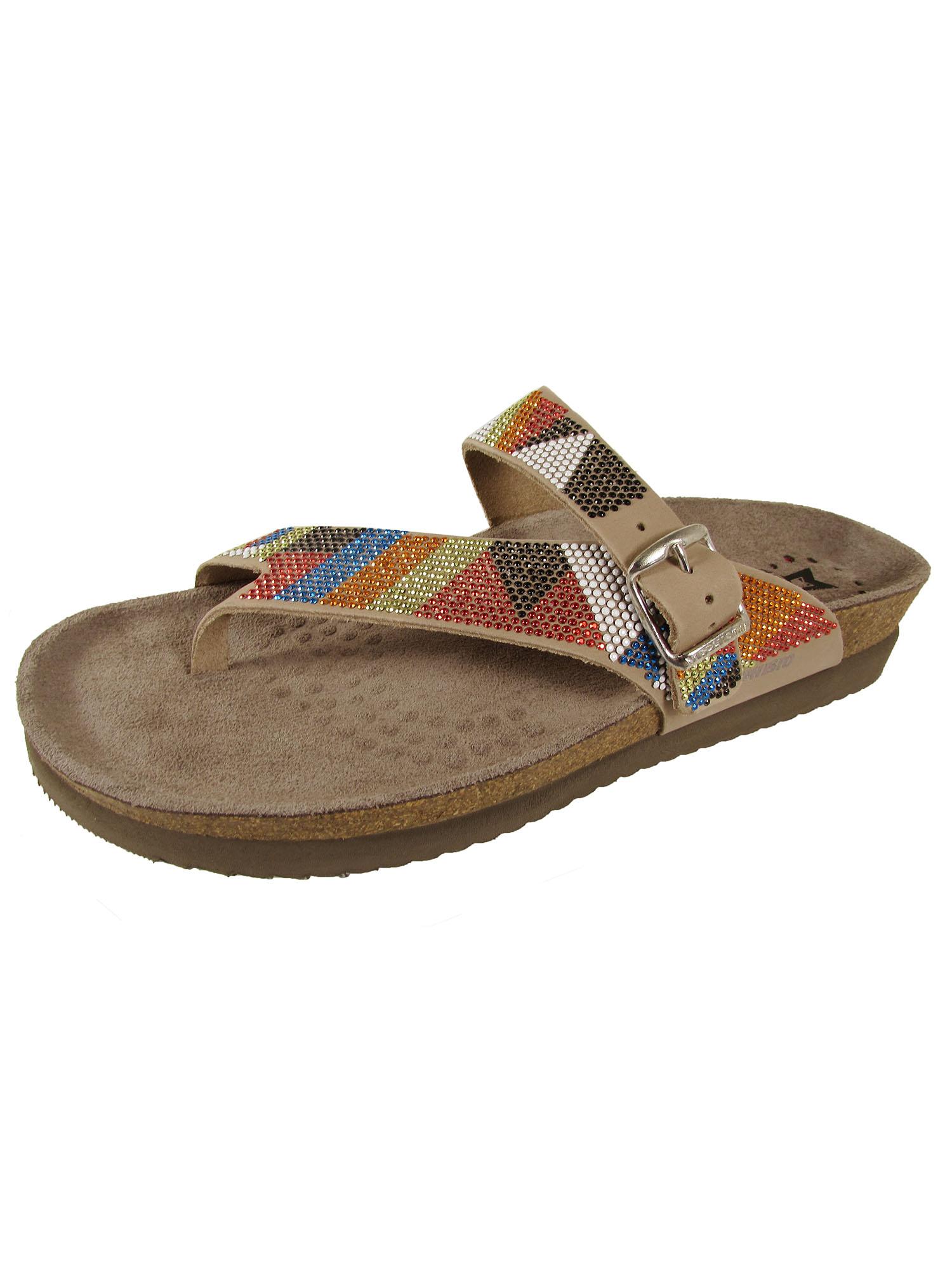 Mephisto donna Helen Spark N Thong Thong Thong Sandal scarpe, Light Sand rosso blu, US 12 3b76af
