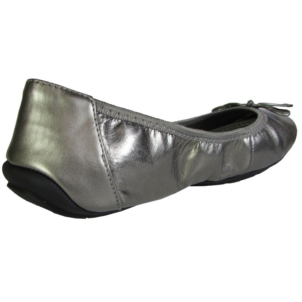 Pewter Or Metallic Flat Shoe
