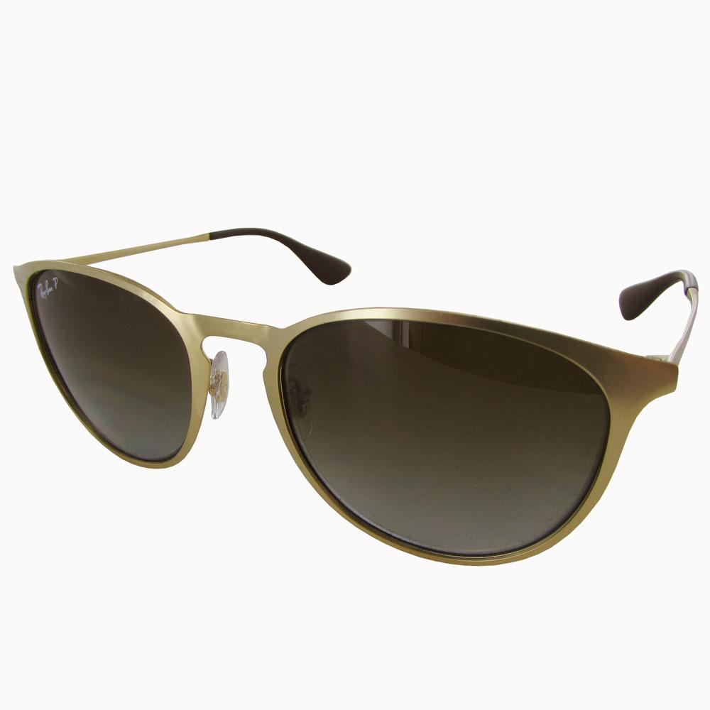 ray ban mens rb3539 erika polarized pilot sunglasses matte gold brown gradient ebay. Black Bedroom Furniture Sets. Home Design Ideas