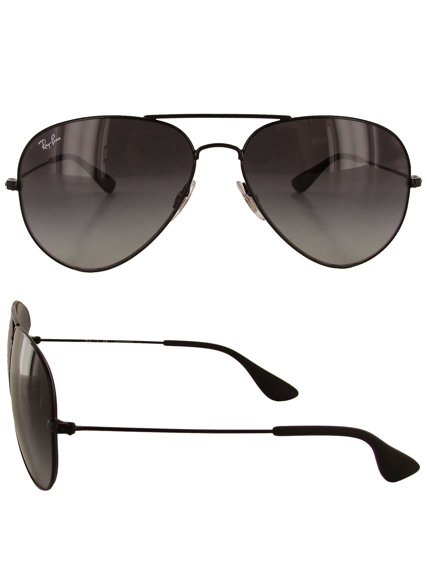 7288e95cd60b58 Ray-Ban Rb3558 002 8g Black Frame Grey Gradient 58mm Lens Sunglasses ...