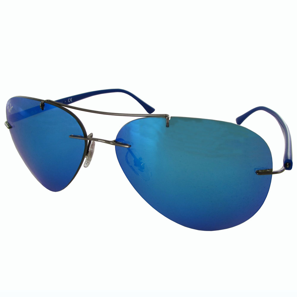 Authentic Ray-Ban Sunglasses Aviator Frame Lenses Mirror Blue Rb8058 ...