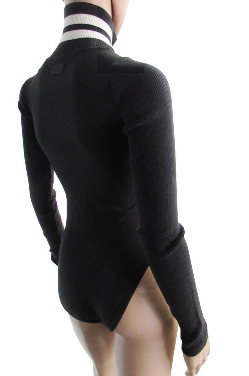 Fenty-Puma-by-Rihanna-Women-Longsleeve-Full-Zip-Bodysuit-Cotton-Black-Size-XL 縮圖 2