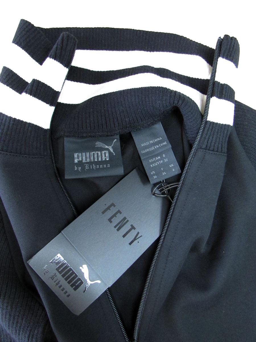 Fenty-Puma-by-Rihanna-Women-Longsleeve-Full-Zip-Bodysuit-Cotton-Black-Size-XL 縮圖 5