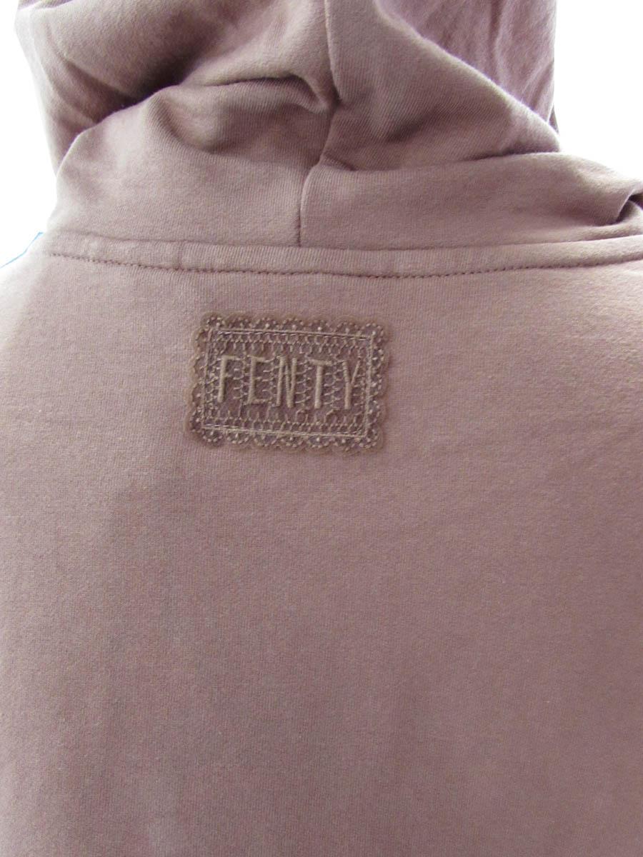 Fenty-Puma-By-Rihanna-Womens-Long-Sleeve-Graphic-Hoody-Friar-Brown-S thumbnail 2