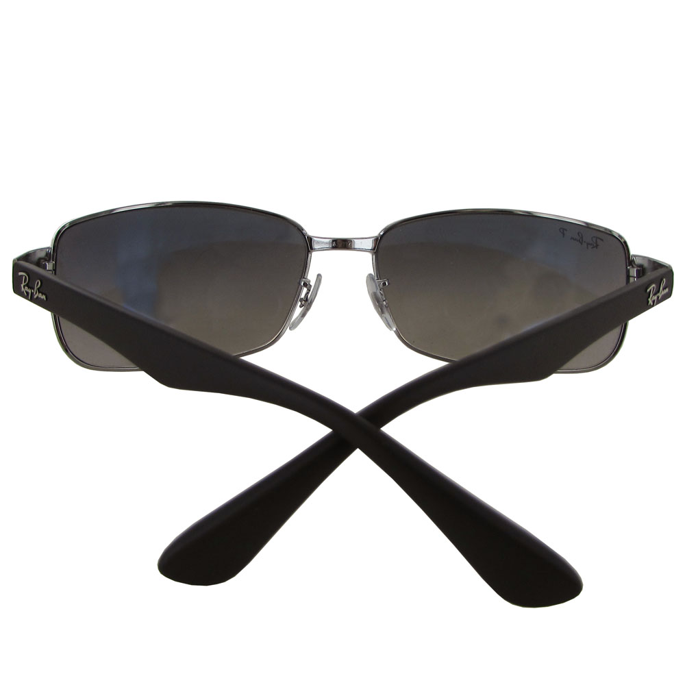 c7fb6778374 Ray Ban Gunmetal Rectangle Sunglasses
