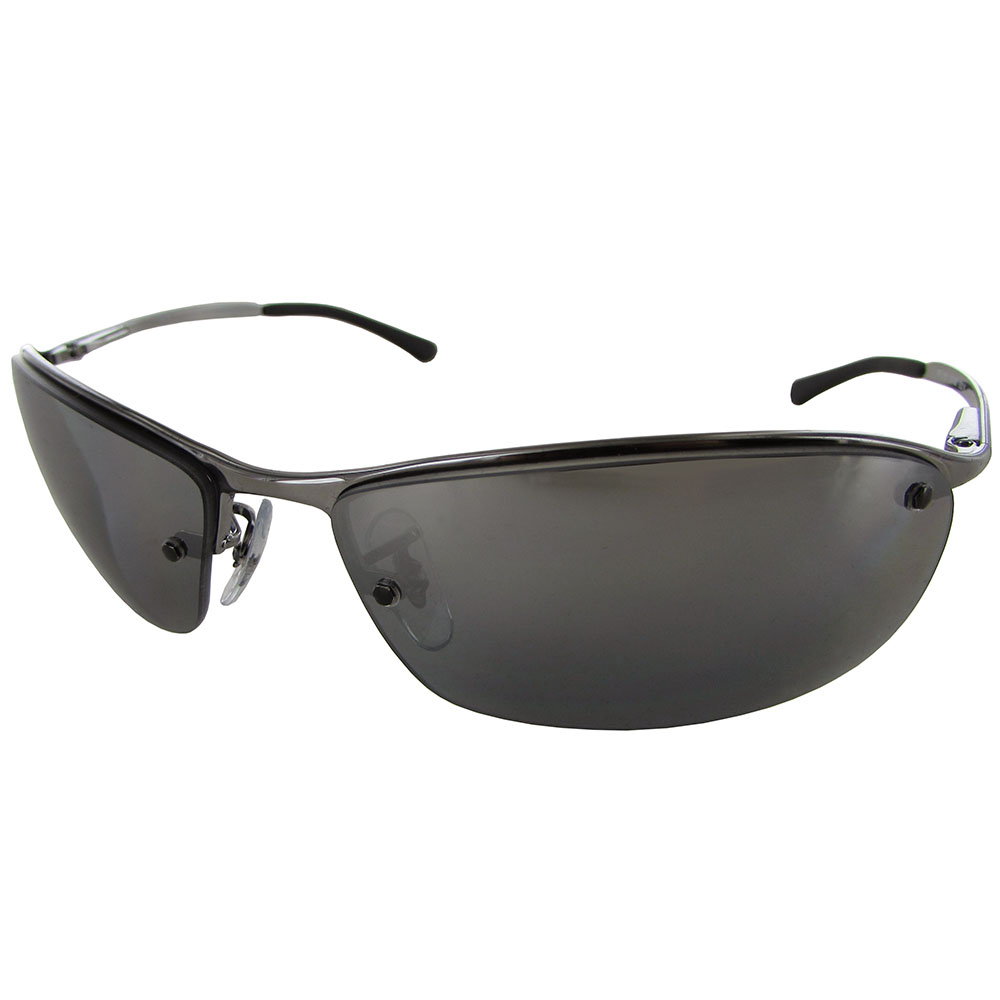 ray ban mens rb3183 semi rimless polarized sunglasses ebay. Black Bedroom Furniture Sets. Home Design Ideas