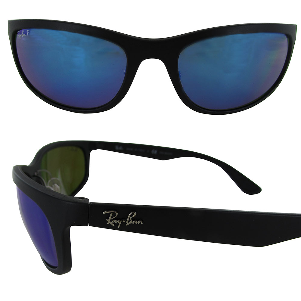 62770628c3a Ray-Ban Chromance RB 4265 601sa1 Matte Black Sunglasses Blue ...