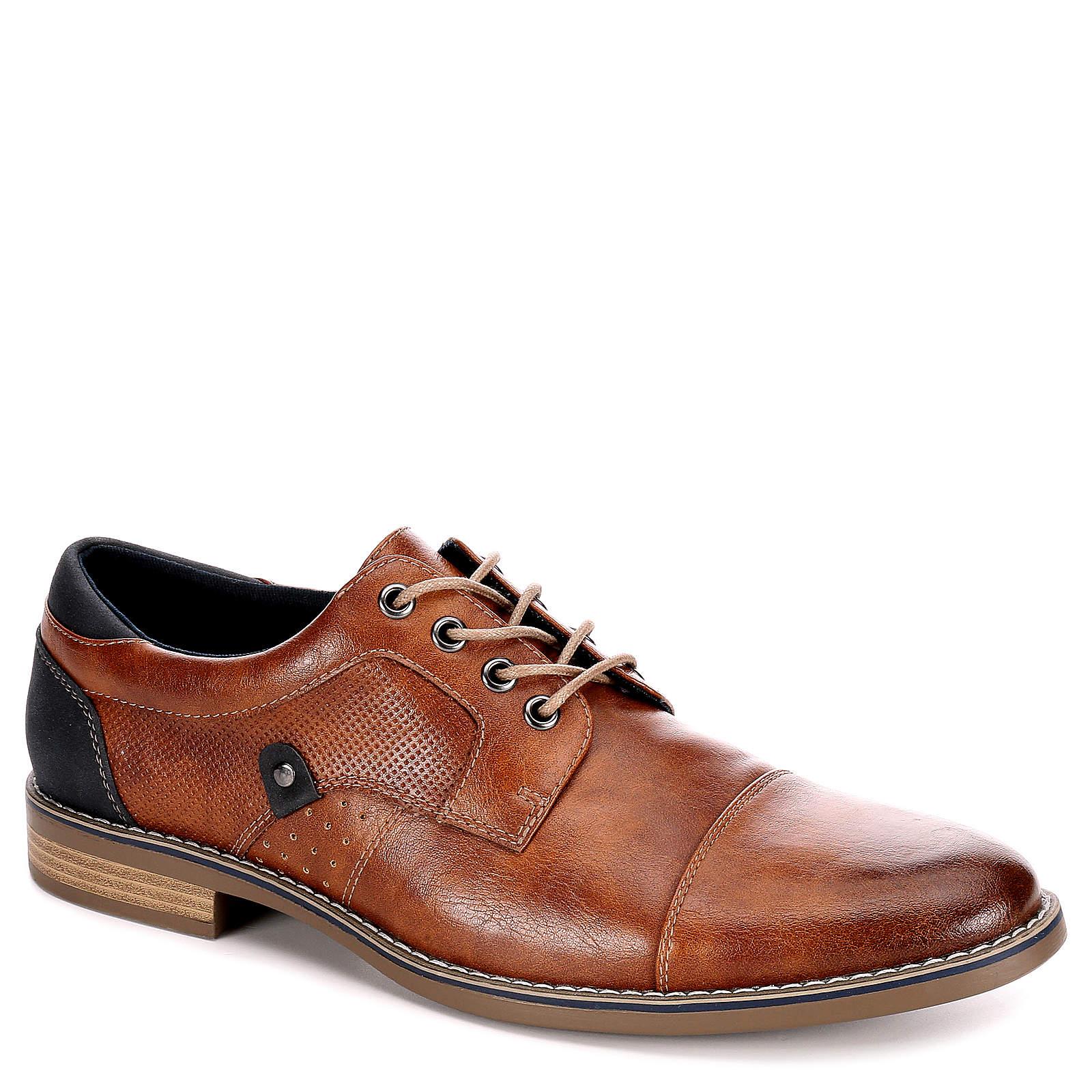 Restoration Mens Justin Lace Up Cap Toe Oxford Shoes Cognac