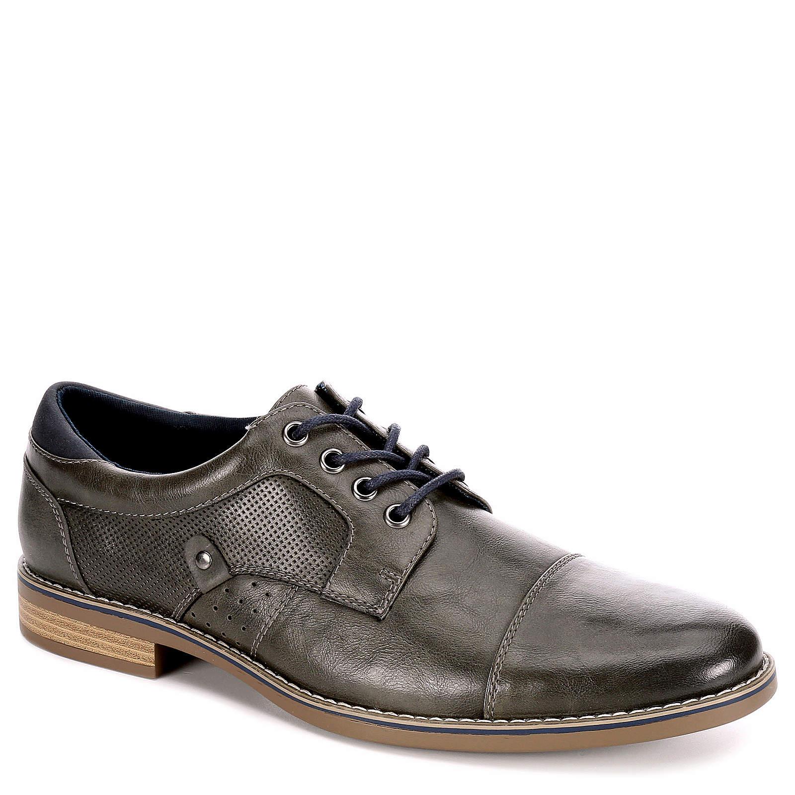 Restoration Mens Justin Lace Up Cap Toe Oxford Shoes Grey