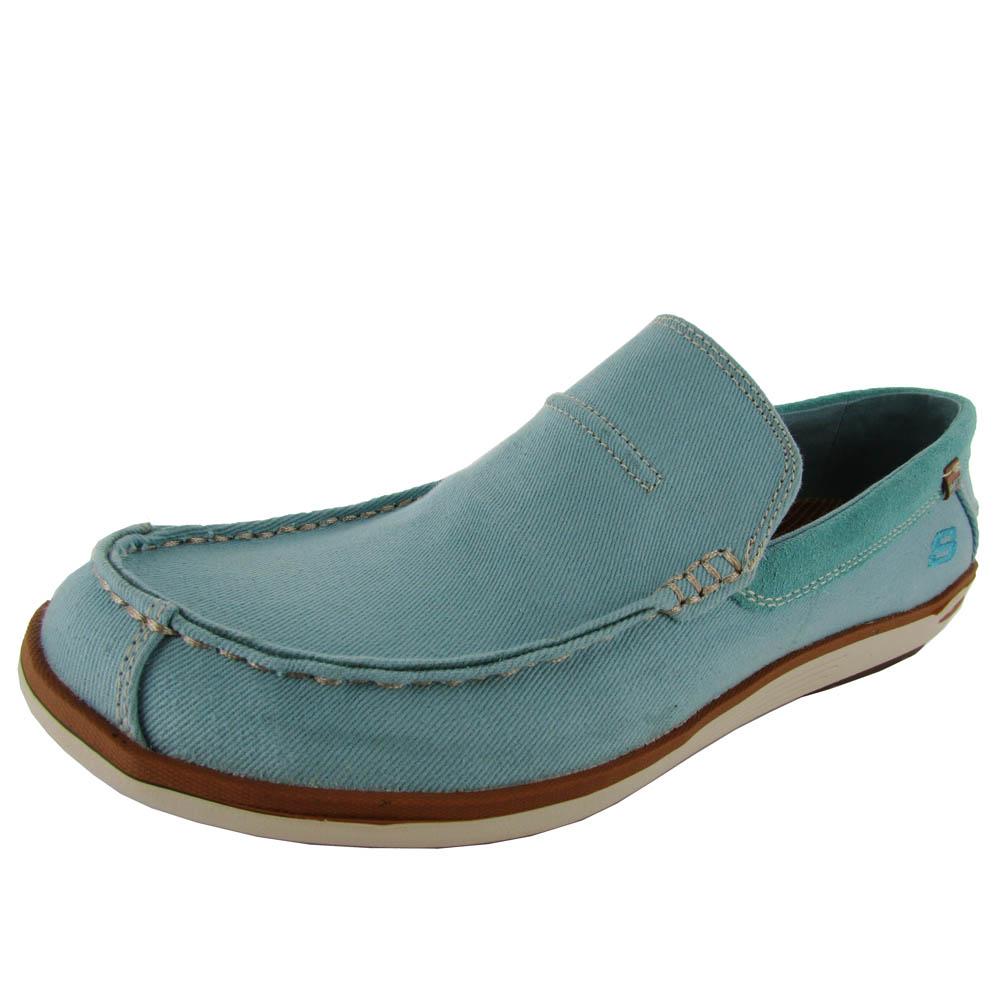 Skechers Hombre Deslizan En Los Zapatos En Forma Relajada WnHNH1tTB