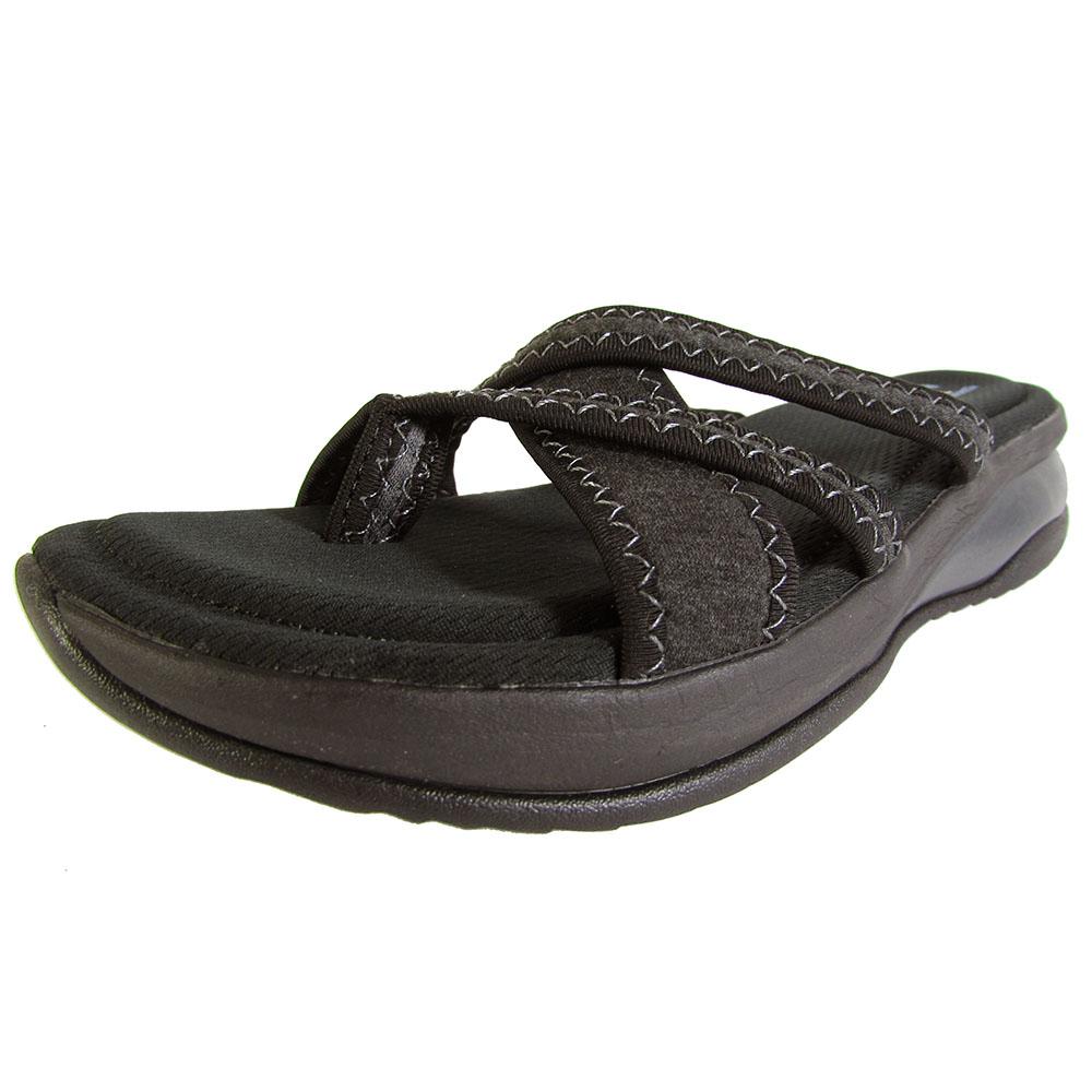 Skechers Womens Promotes Excellence Flip Flop Shoes, Black -7997