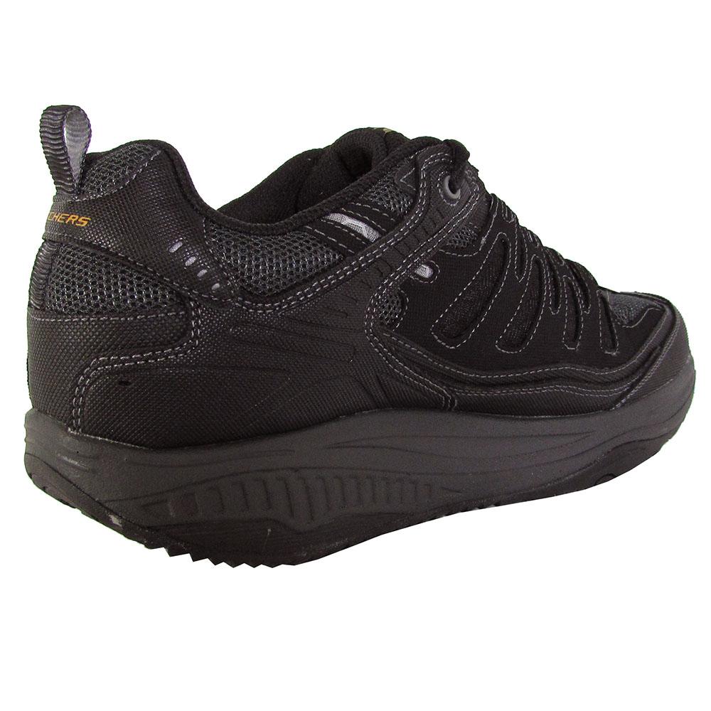 Shape Ups XT - Sneakers de Cuero Hombre, Negro - Negro (Negro/Charcoal), 39.5