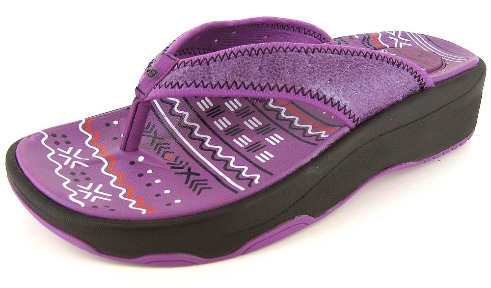 Skechers Tone Ups Black Sandals Flip Flops Womens Shoes