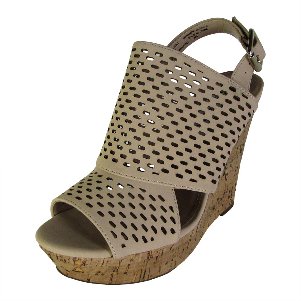 a0243a620e9 Steve Madden Womens Exhibit Slingback Platform Wedge Shoes Natural 7.5.  About this product. Picture 1 of 2  Picture 2 of 2