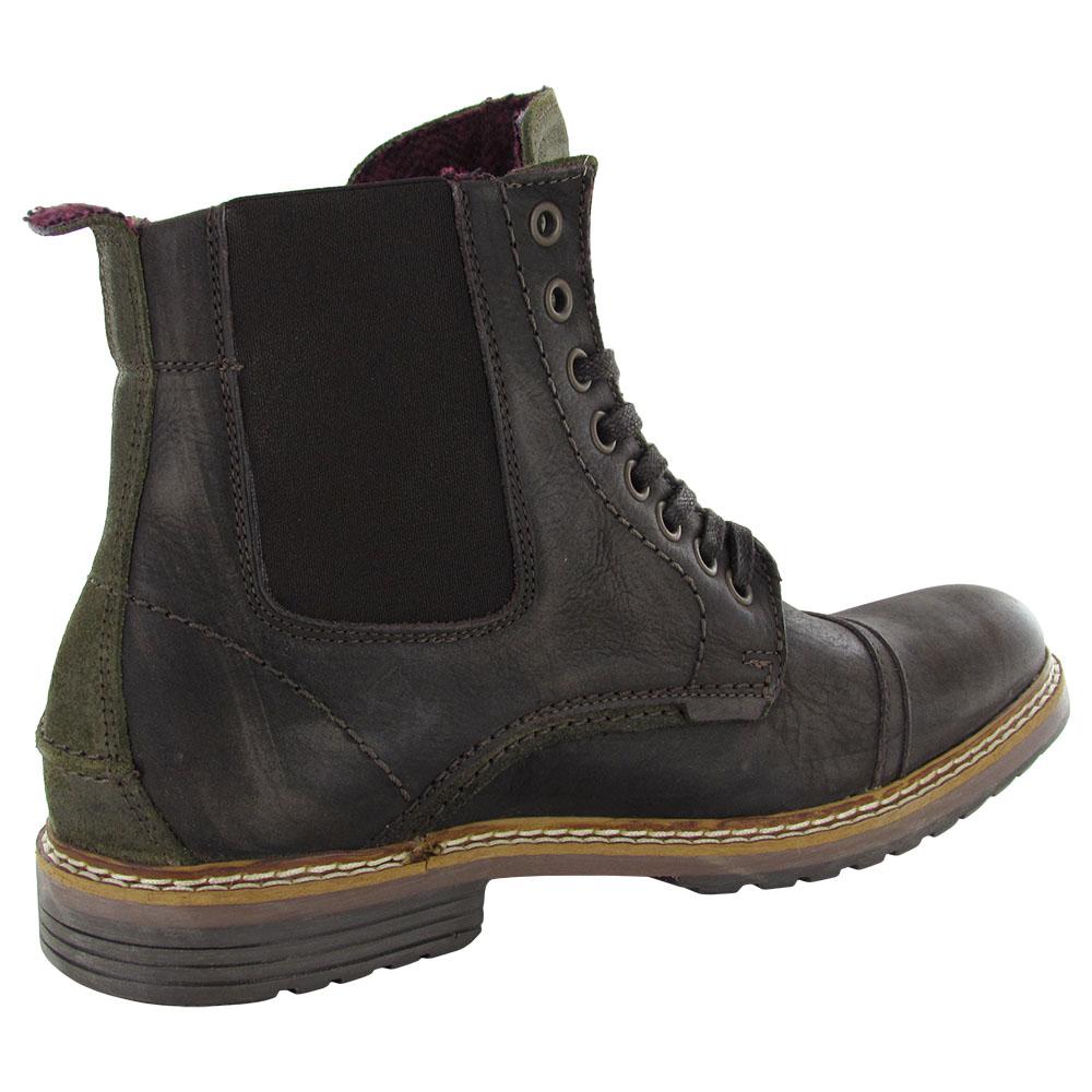 Steve Madden Mens Sargge Leather Cap Toe Combat Boot Shoes ... Steve Madden Combat Boots Men
