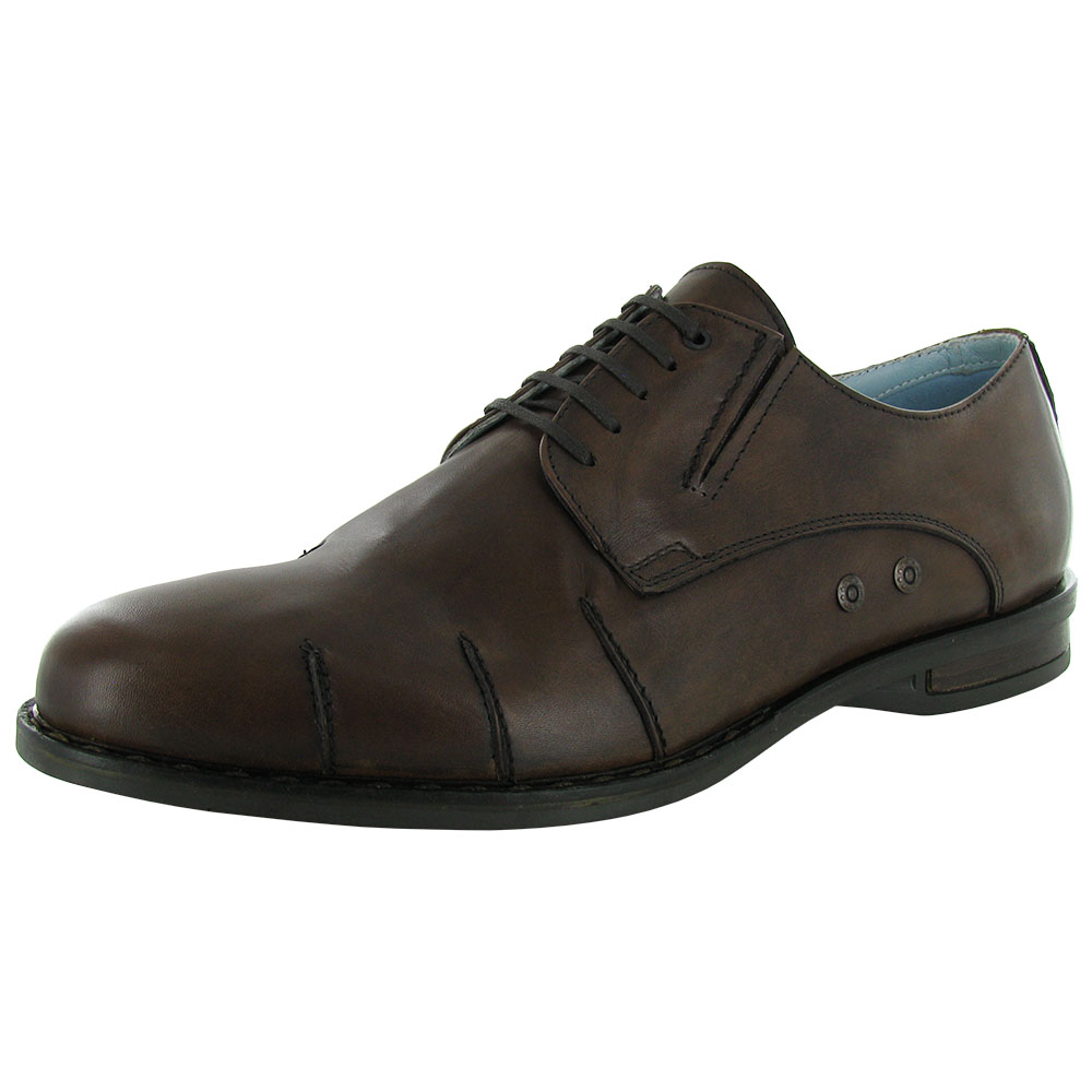 3a6dc8e6d6f Steven by Steve Madden Mens Denis Leather Dress Shoe 11 Dark Brown ...