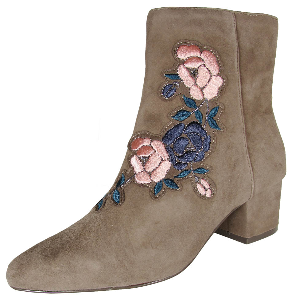 Steven by Steve Madden Women Brooker Floral Ankle Boot Shoes