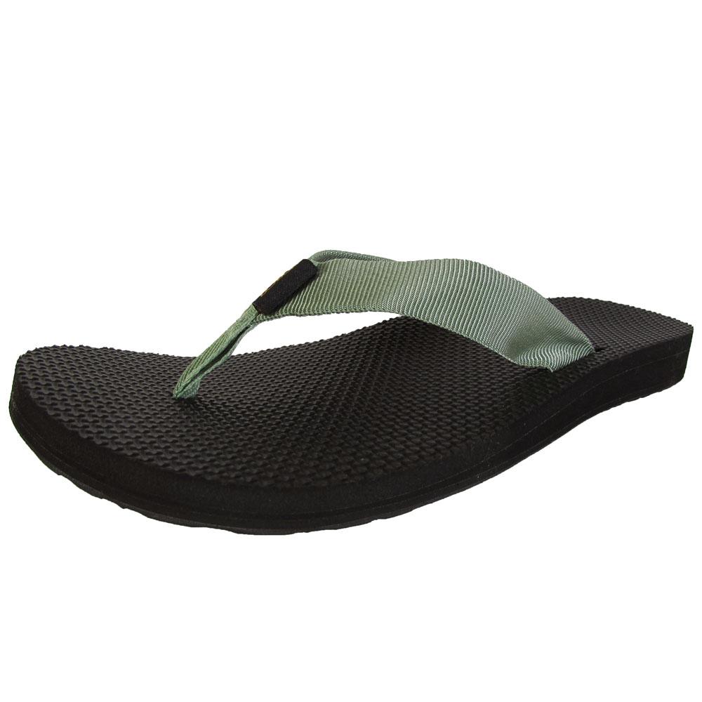 122be076136f24 Teva Womens Classic Flip Toe Post Slide Sandals Stone Green 5