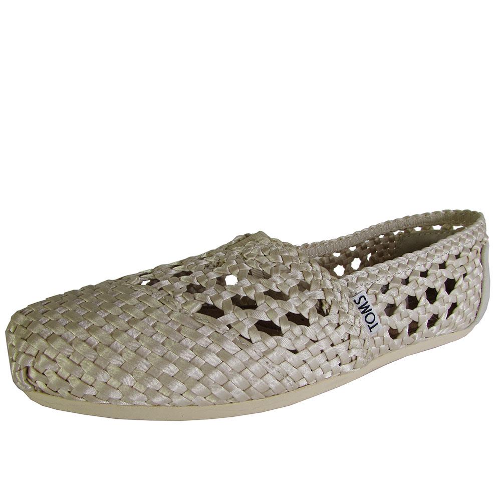Toms Womens Woven Classics Slip On Alpargata Flat Shoe