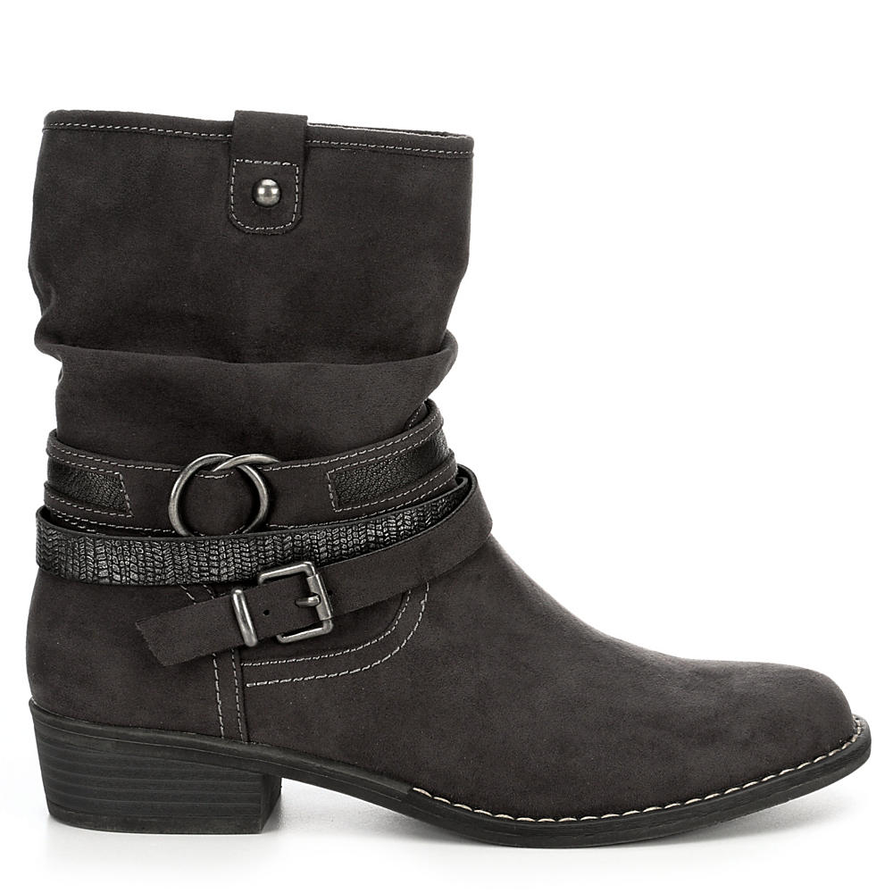 XAPPEAL-Womens-Shin-High-Low-Heel-Slouch-Boot-Shoes thumbnail 6