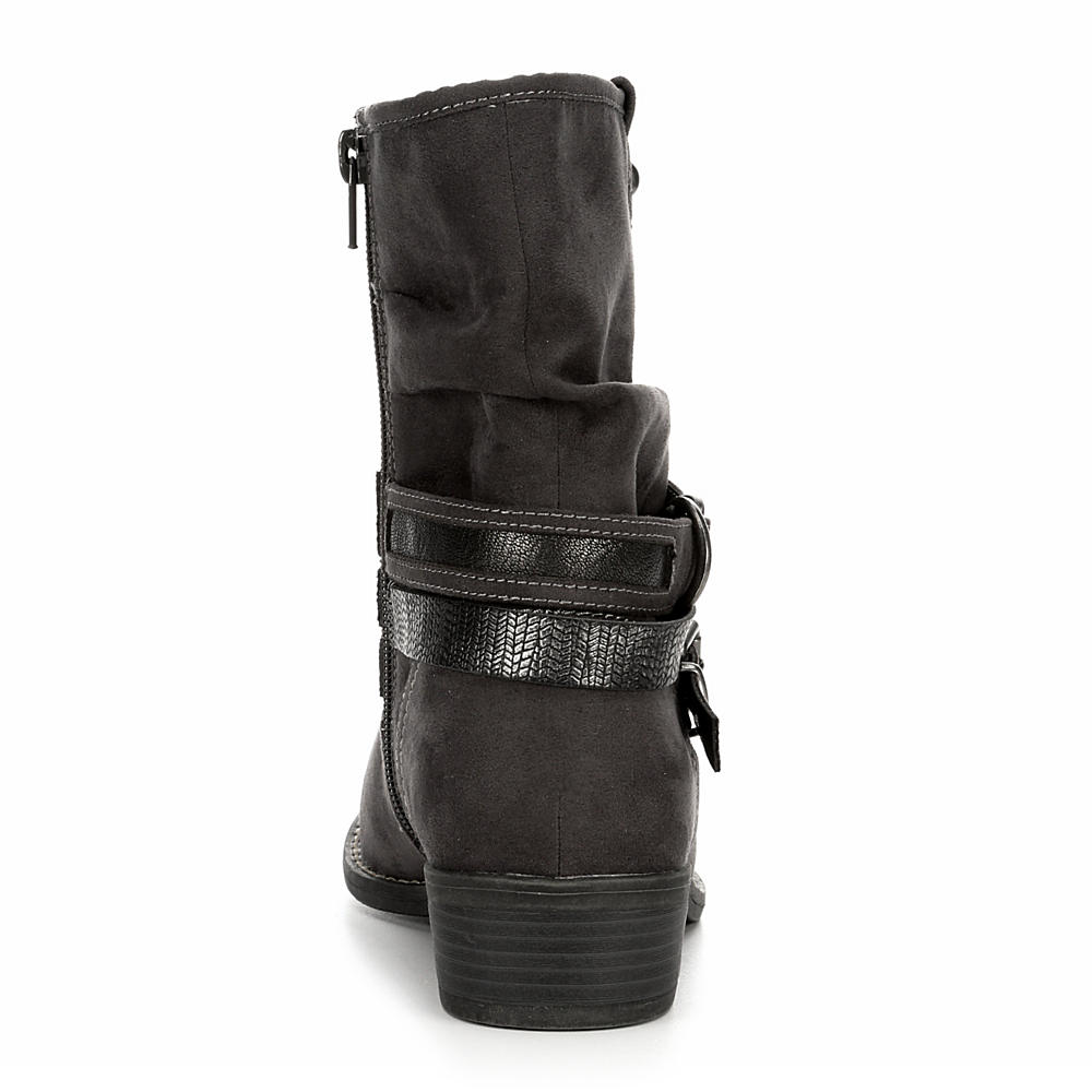 XAPPEAL-Womens-Shin-High-Low-Heel-Slouch-Boot-Shoes thumbnail 9