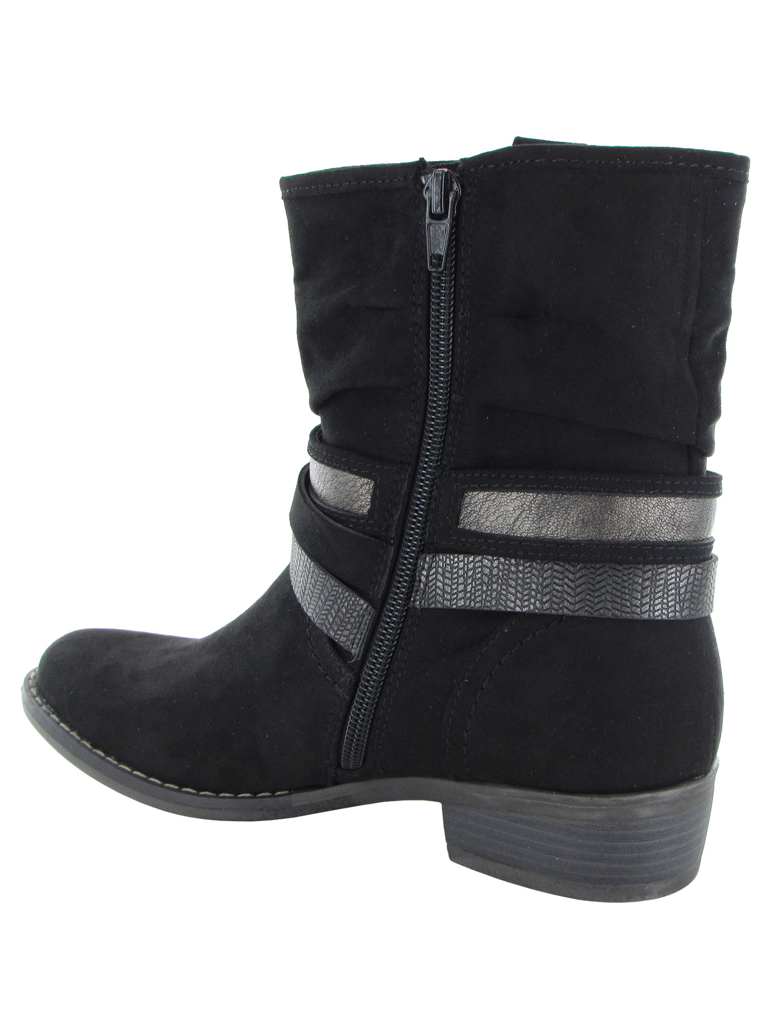XAPPEAL-Womens-Shin-High-Low-Heel-Slouch-Boot-Shoes thumbnail 3