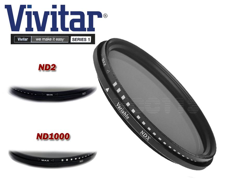 Vivitar 77mm Neutral Density Variable Fader NDX Filter ND2 to ND1000 VNDX-77